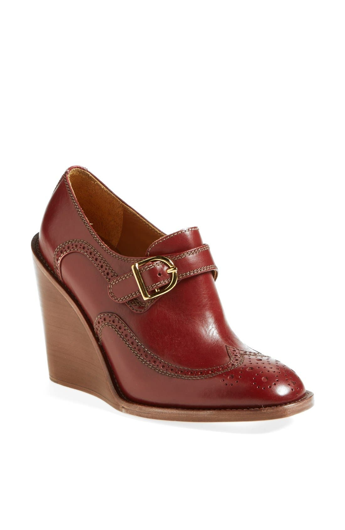 Main Image - See by Chloé 'Ricki' Wingtip Wedge Bootie
