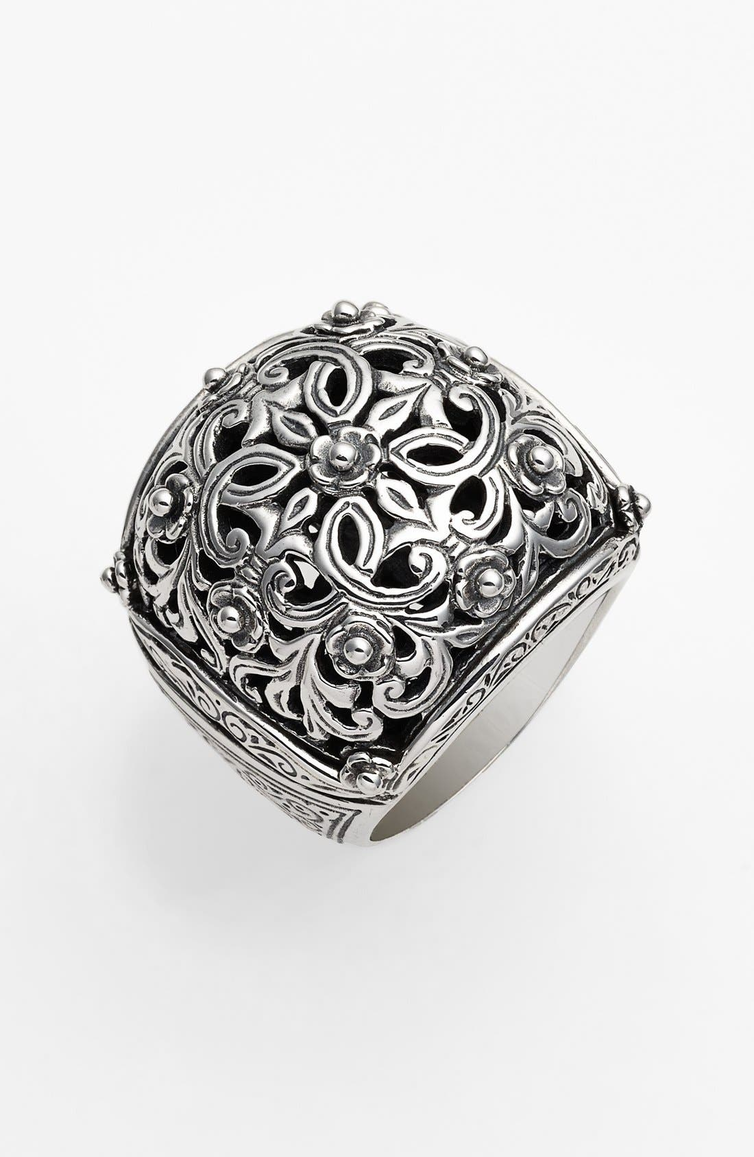 'Classics' Filigree Dome Ring,                         Main,                         color, Silver