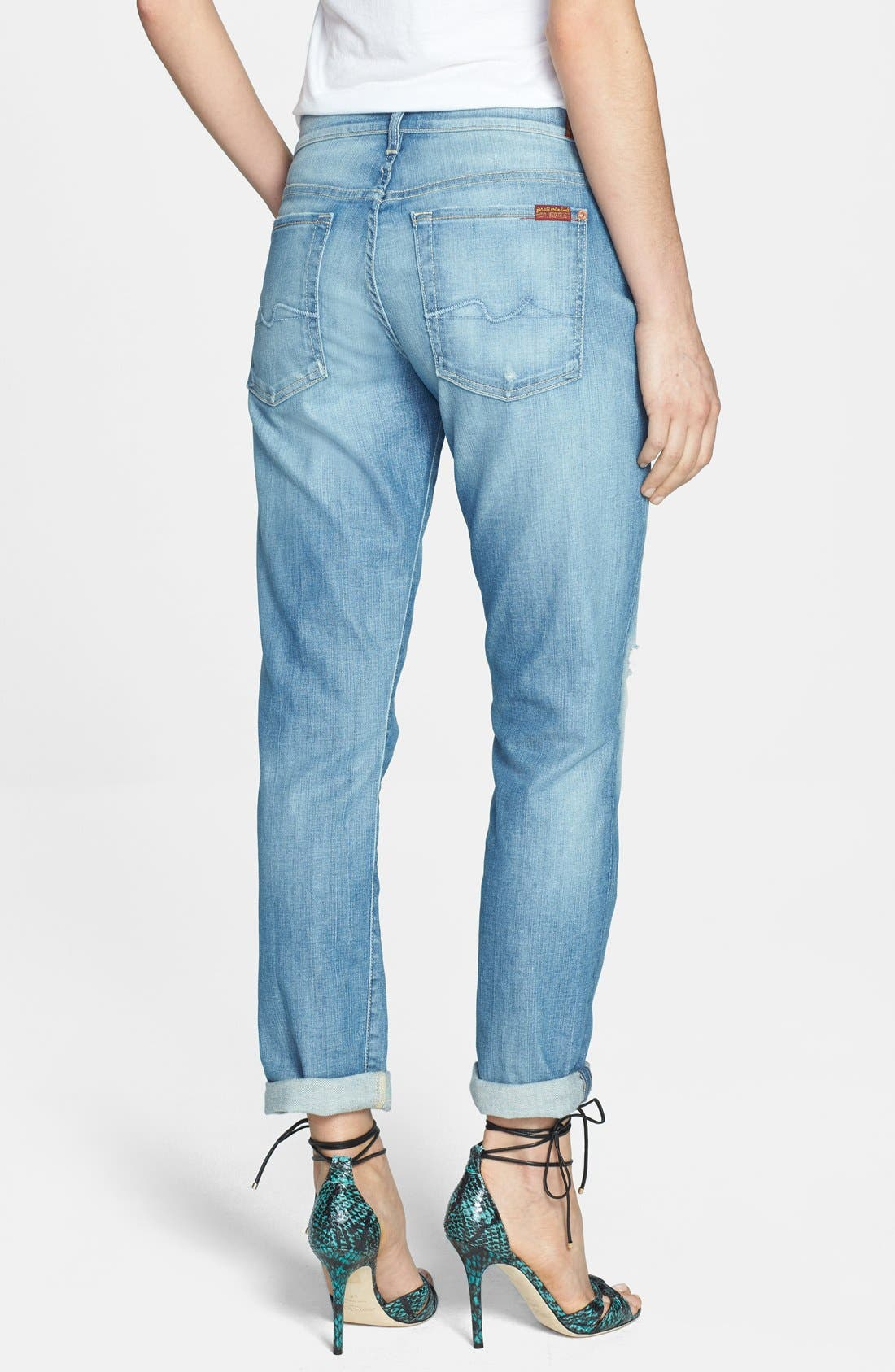 Alternate Image 2  - 7 For All Mankind® 'Josefina' Distressed Boyfriend Jeans (Authentic Pacific Grove)
