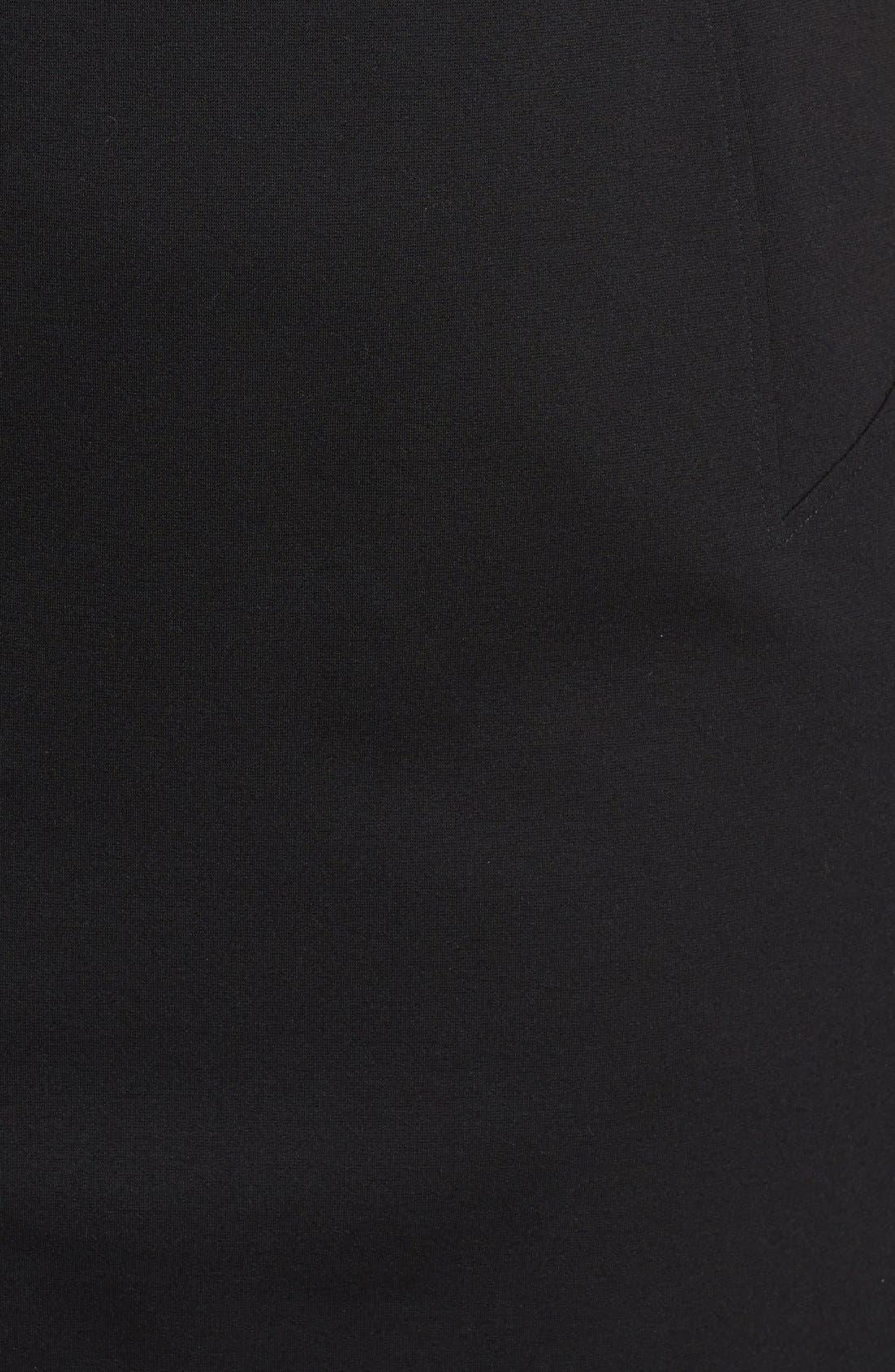 Alternate Image 3  - ABS by Allen Schwartz Illusion Stripe V-Neck Dress (Plus Size)