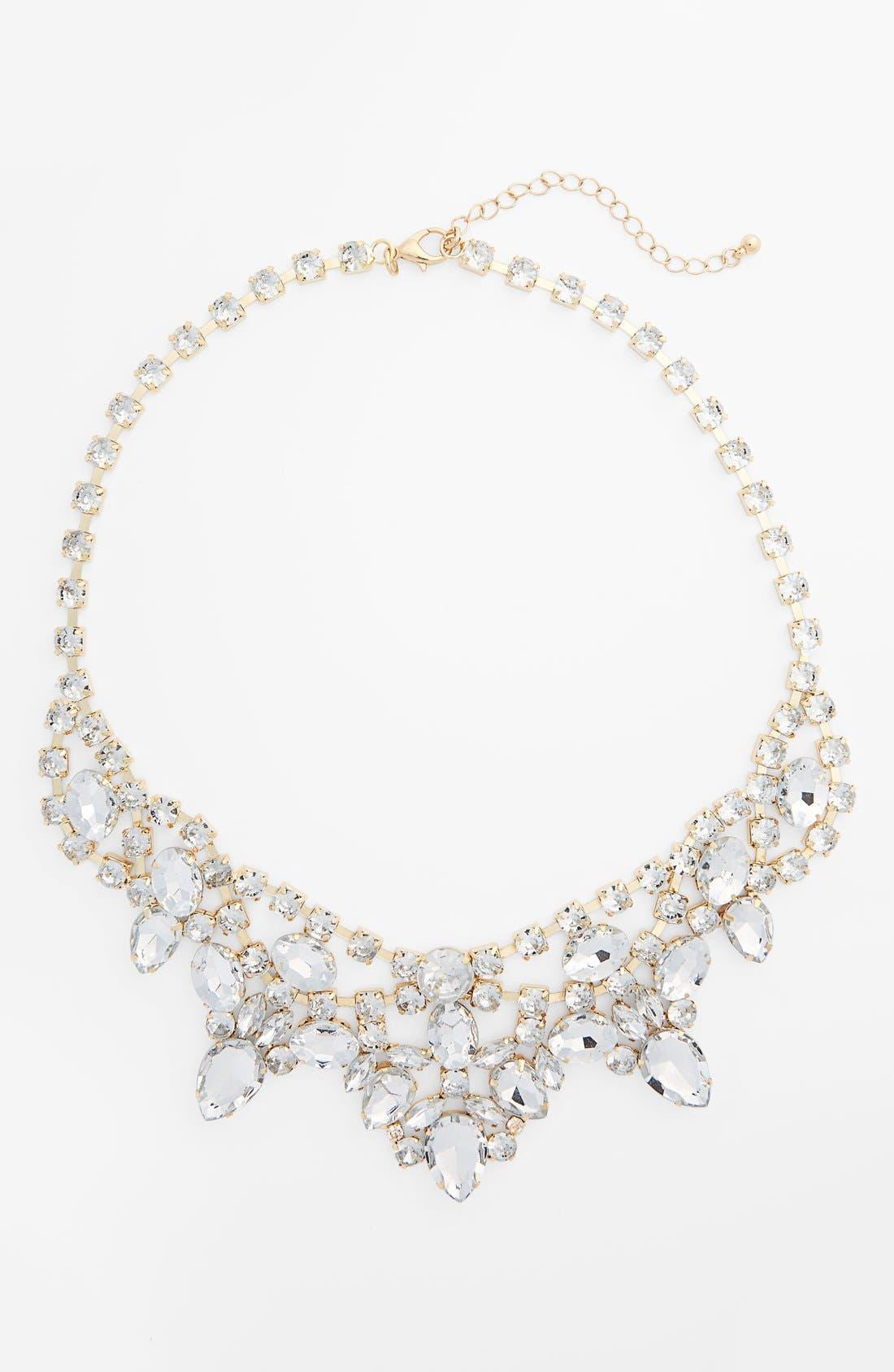 Main Image - BP. Crystal Bib Statement Necklace (Juniors)
