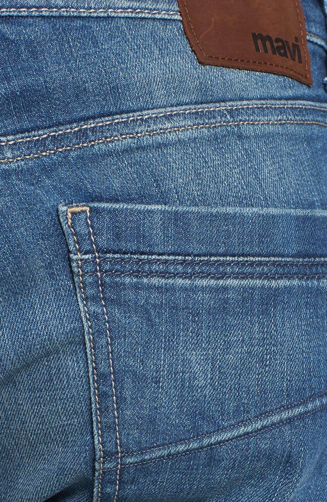 Alternate Image 4  - Mavi Jeans 'Zach' Straight Leg Jeans (Light Used Yaletown)