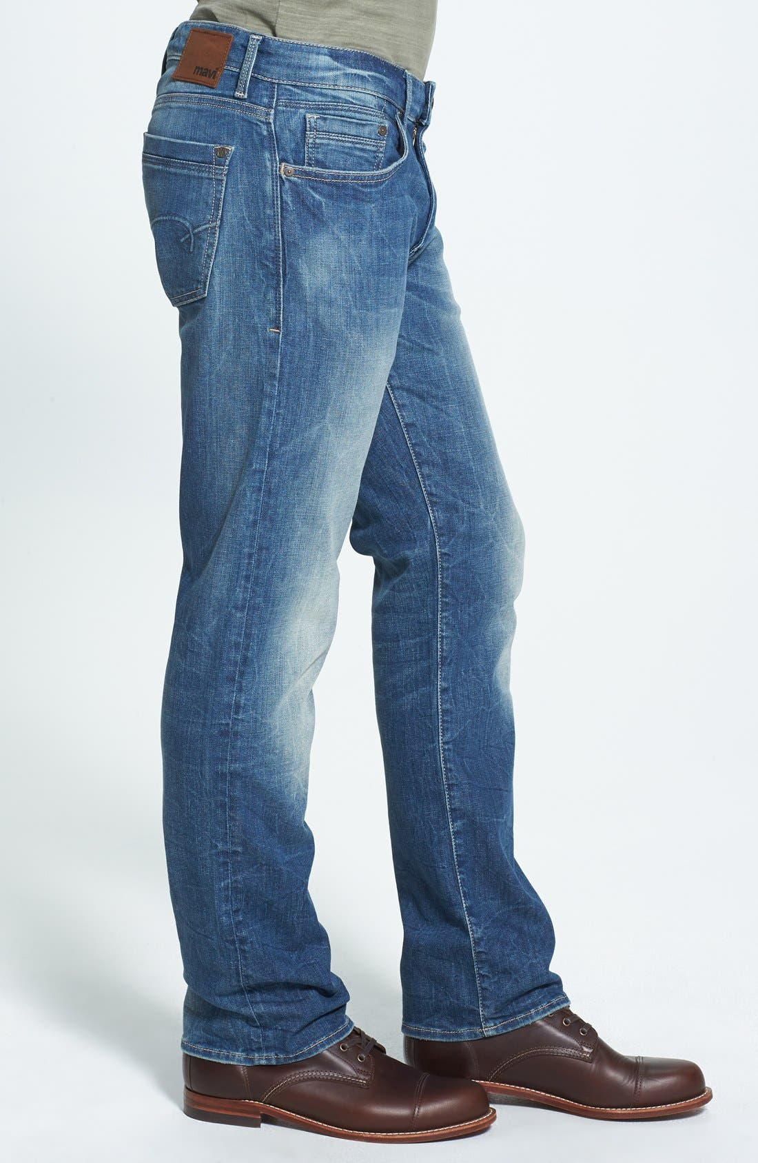 Alternate Image 3  - Mavi Jeans 'Zach' Straight Leg Jeans (Light Used Yaletown)