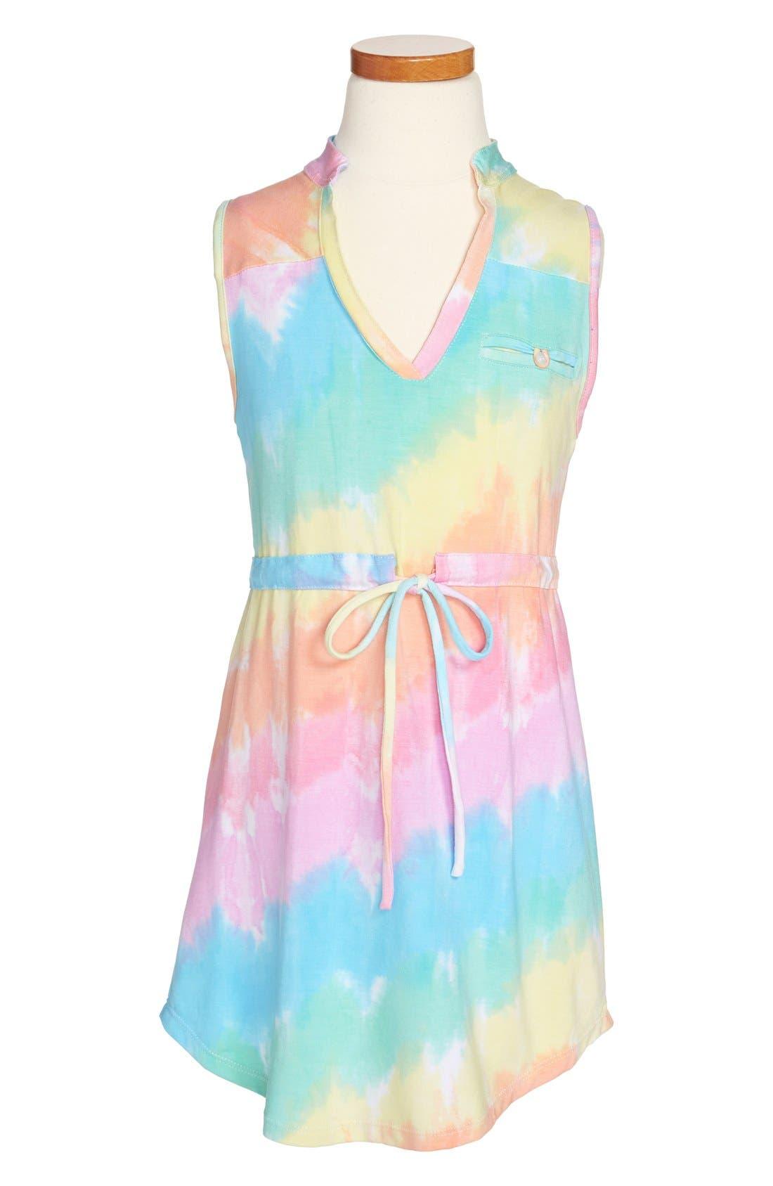 Main Image - Flowers by Zoe Tie Dye Sleeveless Dress (Big Girls)