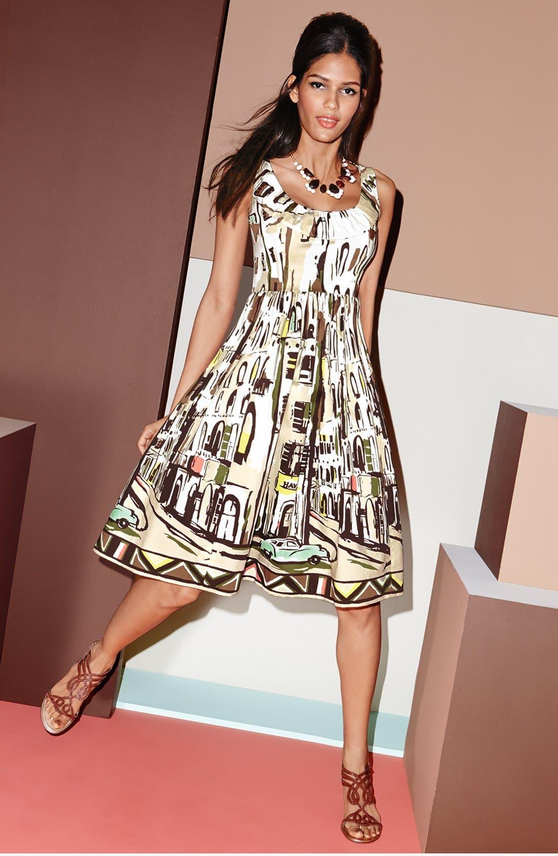 Alternate Image 4  - kate spade new york 'landscape' print stretch cotton fit & flare dress