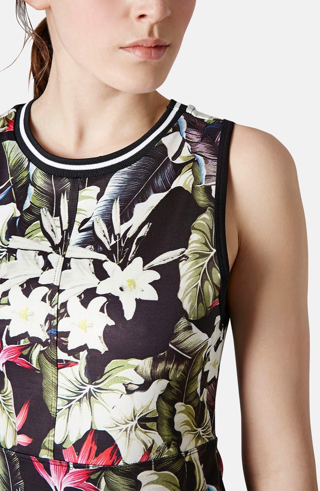 Alternate Image 4  - Topshop 'Island Life' Tropical Print Body-Con Dress