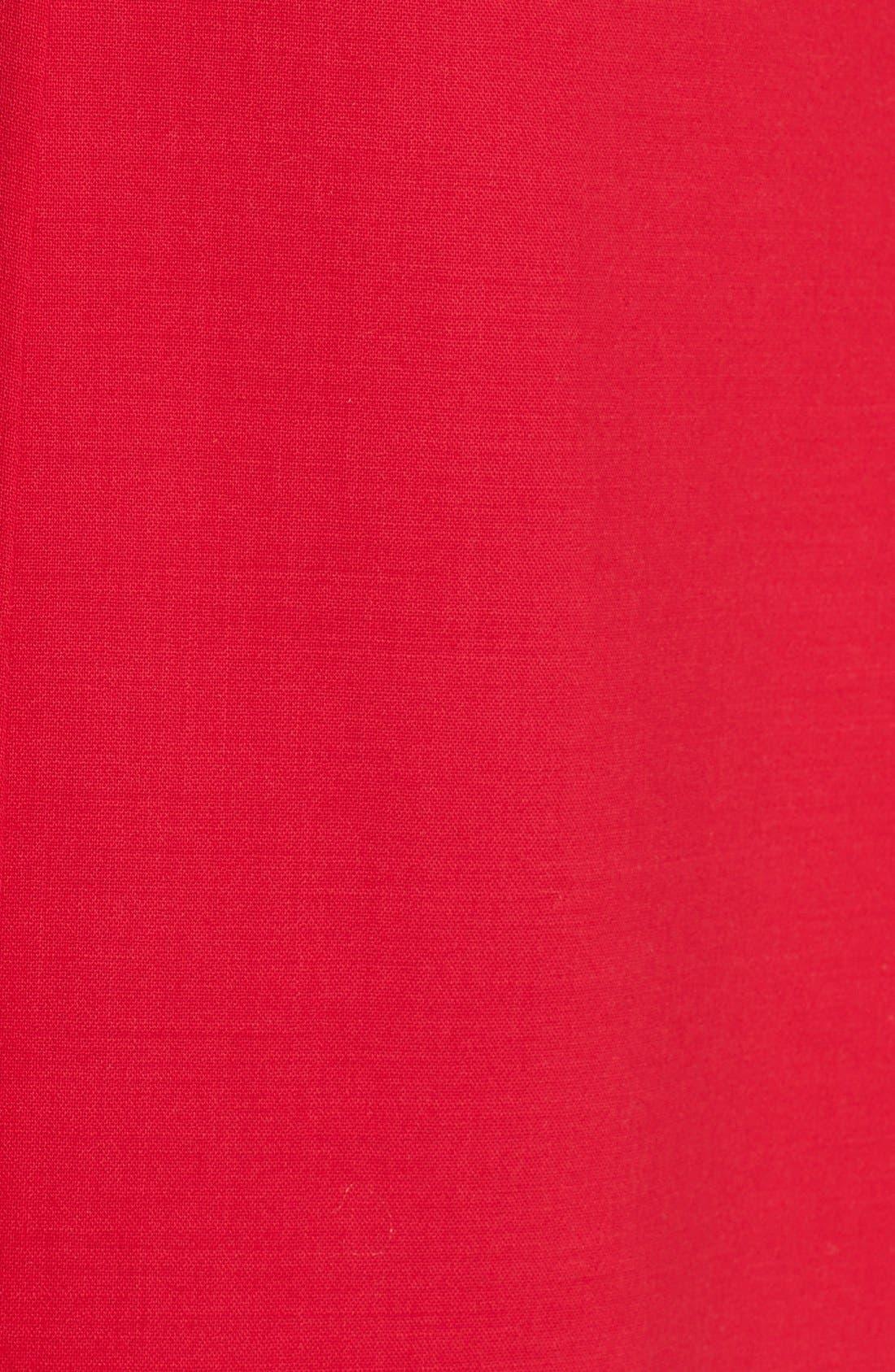Alternate Image 3  - Oscar de la Renta Ruffle Back Pencil Dress