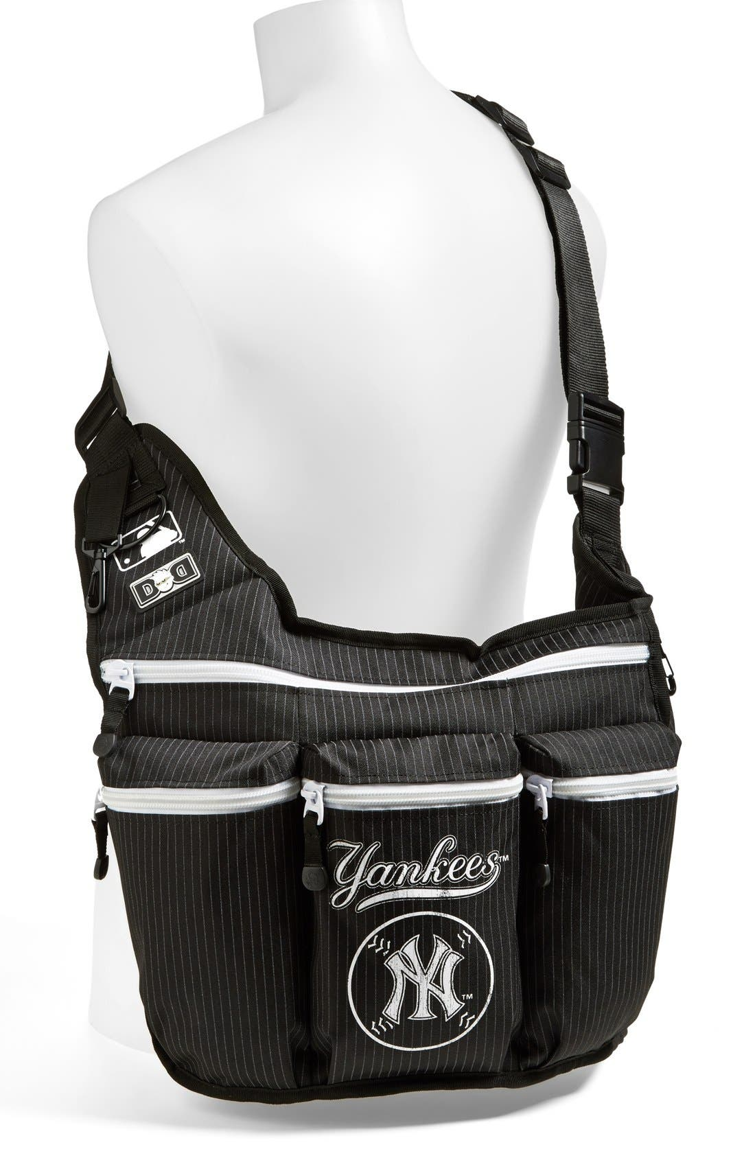 Alternate Image 2  - Diaper Dude 'New York Yankees' Messenger Diaper Bag