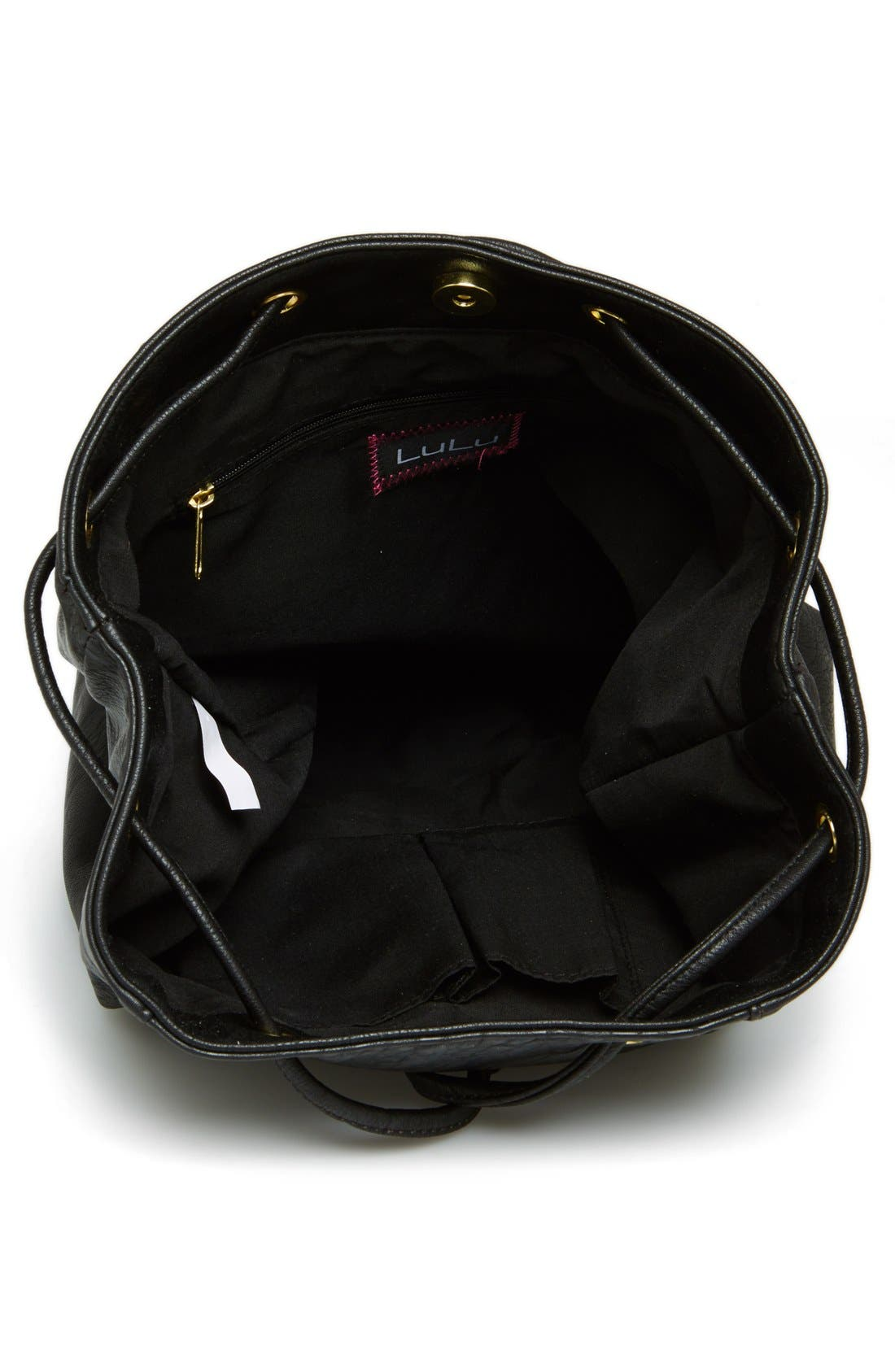 Alternate Image 3  - Lulu Faux-Leather Bucket Backpack (Juniors)