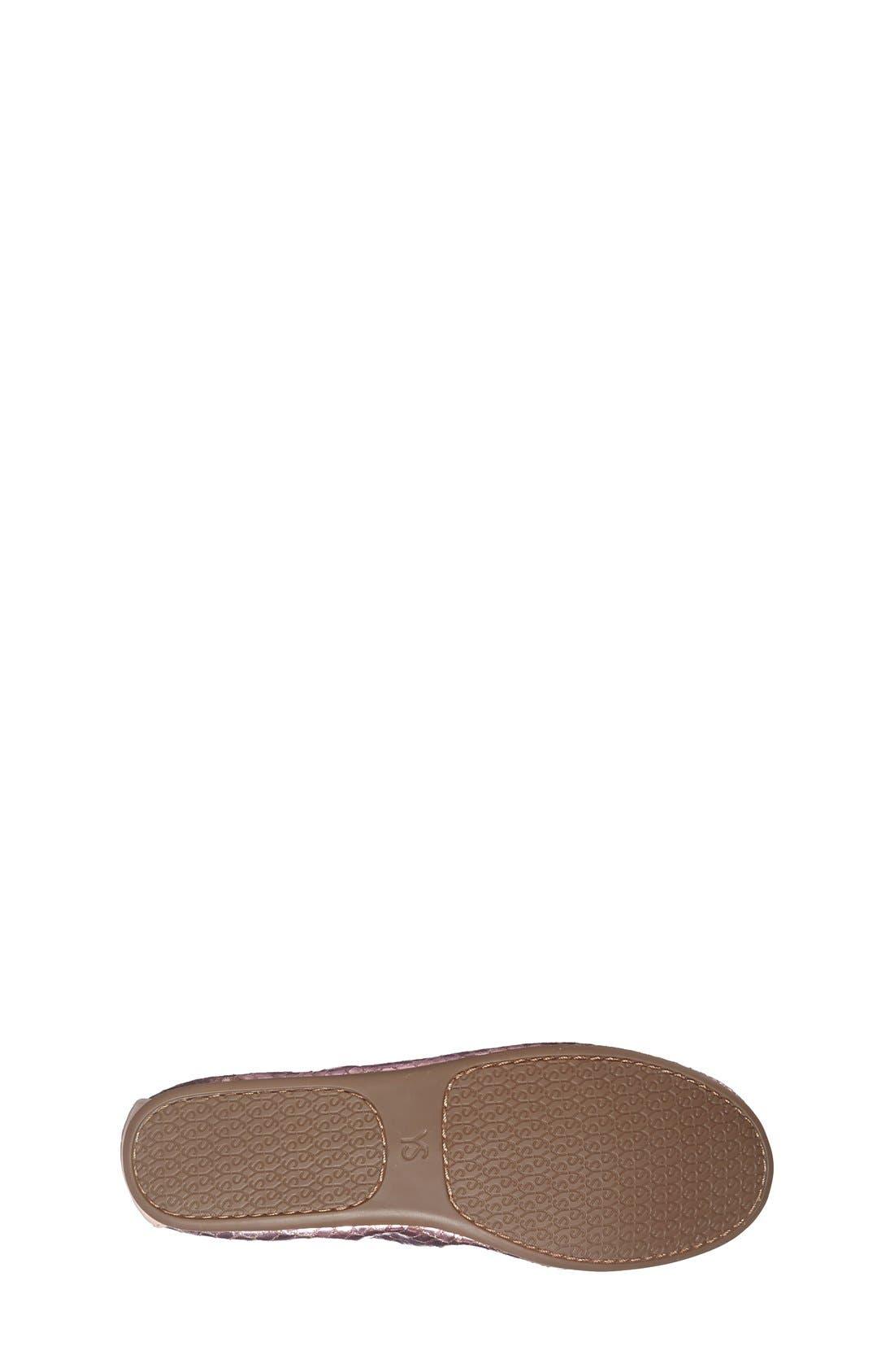 Alternate Image 4  - Yosi Samra Python Embossed Metallic Leather Flat (Toddler, Little Kid & Big Kid)