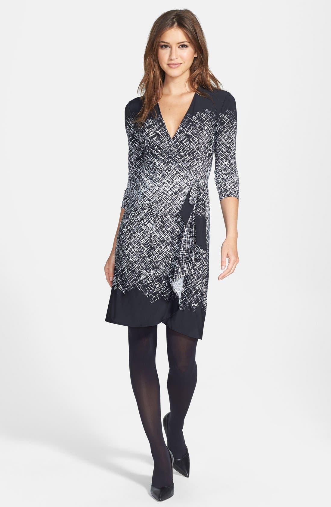 Alternate Image 5  - BCBGMAXAZRIA Engineered Print Matte Jersey Wrap Dress