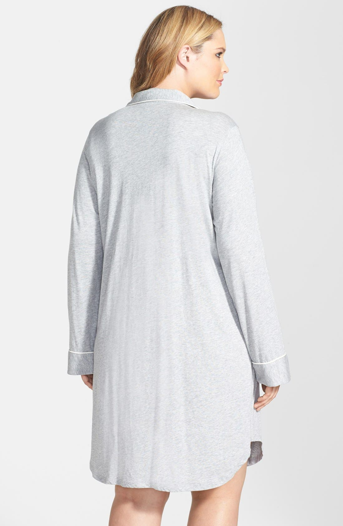 Alternate Image 2  - Lauren Ralph Lauren Knit Nightshirt (Plus Size) (Online Only)