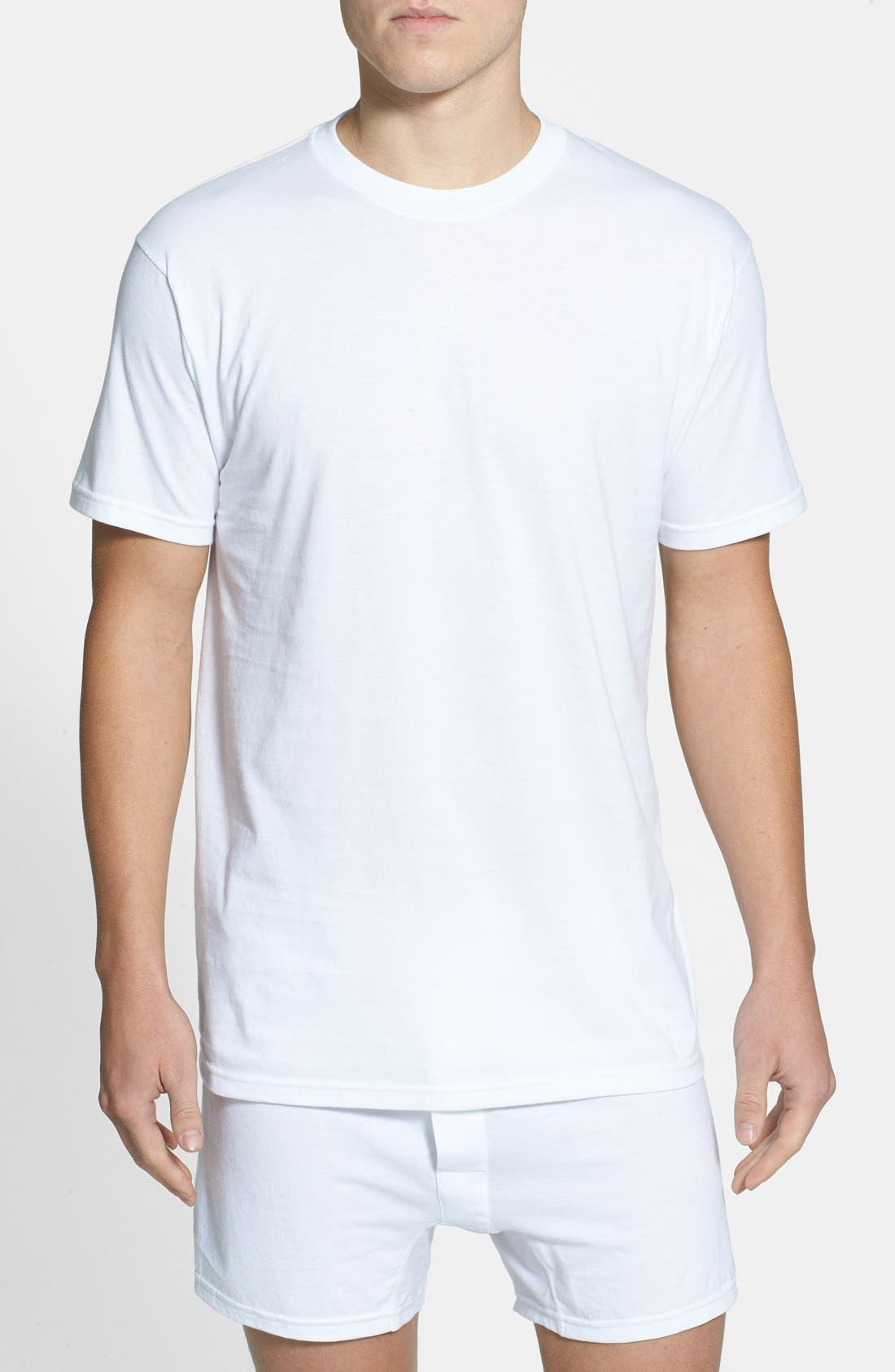 Alternate Image 1 Selected - Nordstrom Men's Shop Regular Fit 4-Pack Supima® Cotton T-Shirts