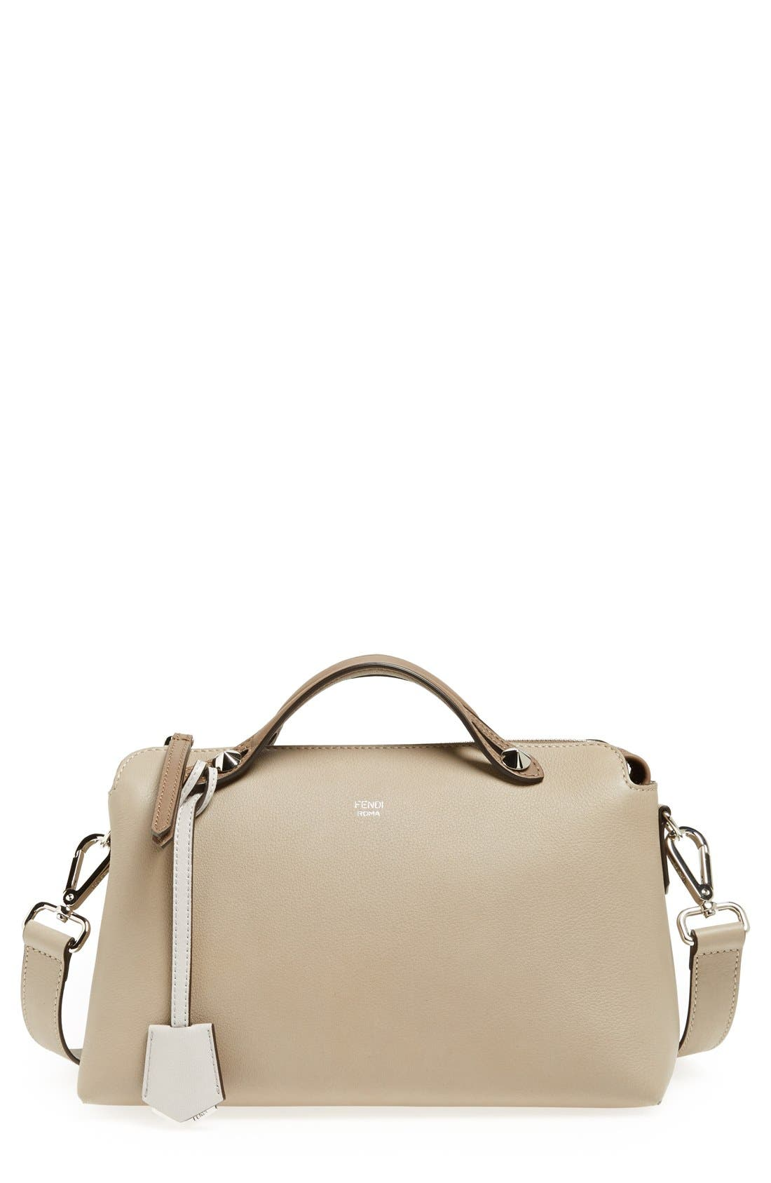 'Bauletto Piccolo' Leather Crossbody Bag,                         Main,                         color, Turtledv Sepia Palladuim