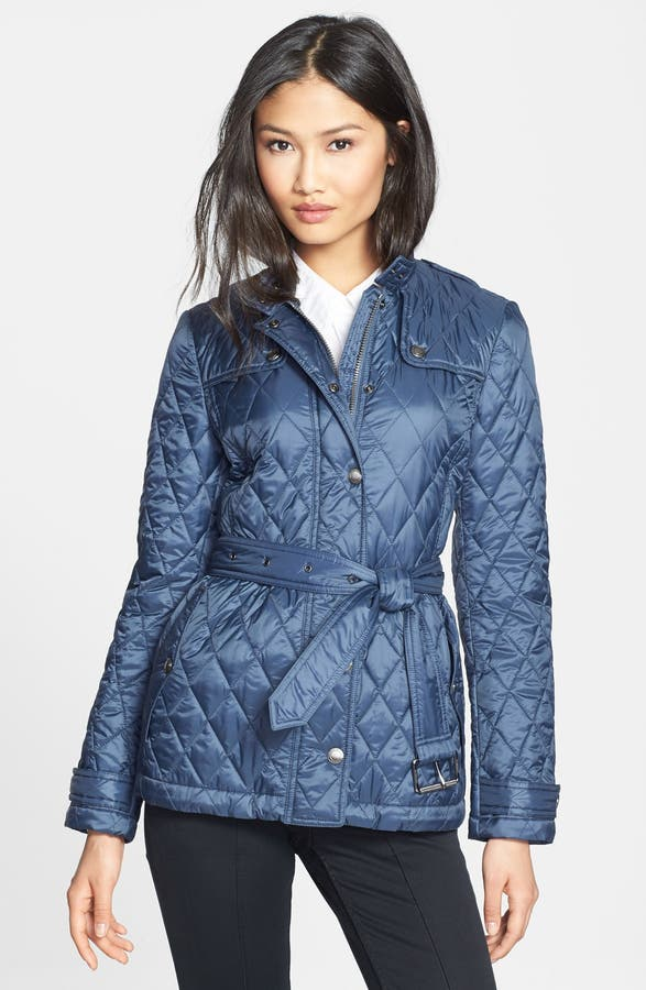 Burberry Brit 'Starkford' Belted Quilted Jacket | Nordstrom : quilted belted coat - Adamdwight.com
