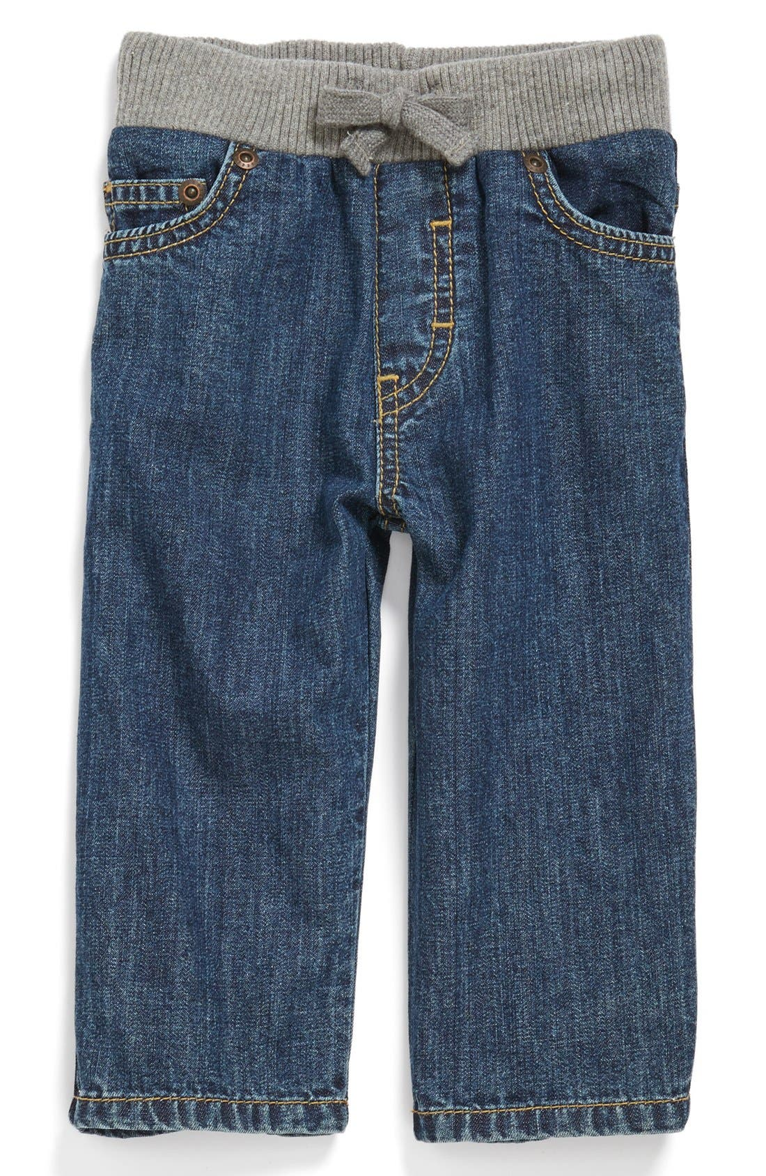 Alternate Image 1 Selected - Tucker + Tate 'Tucker' Knit Waist Straight Leg Jeans (Baby Boys)