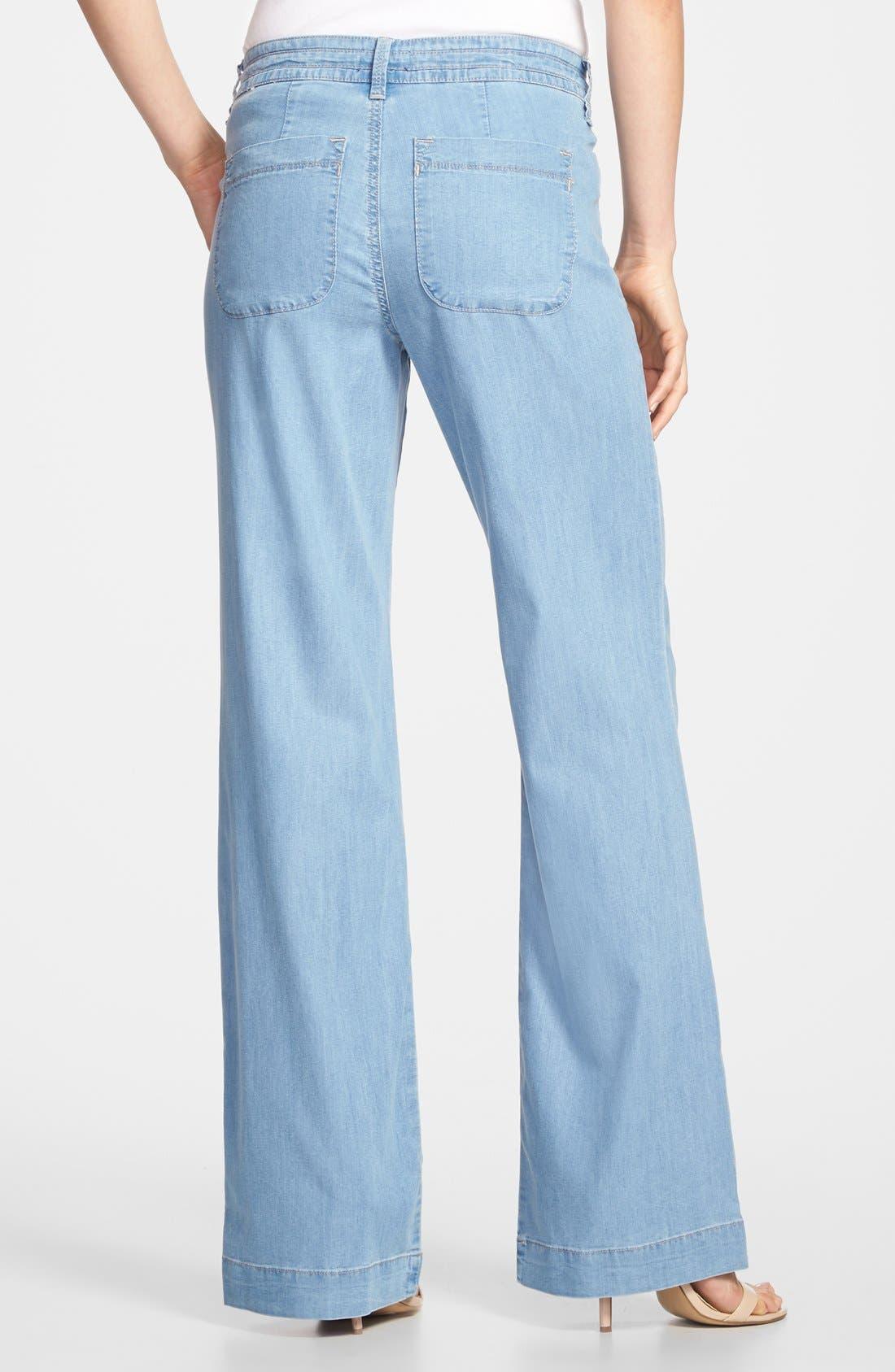 Alternate Image 2  - NYDJ 'Lindsey' Wide Leg Pants (Regular & Petite)