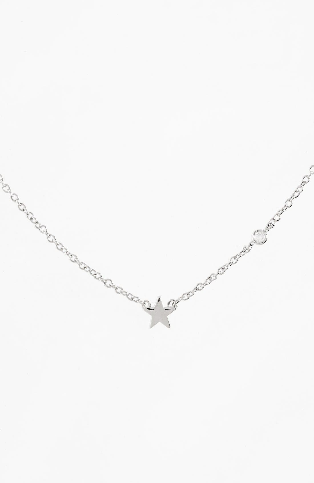 Star Necklace,                         Main,                         color, Silver