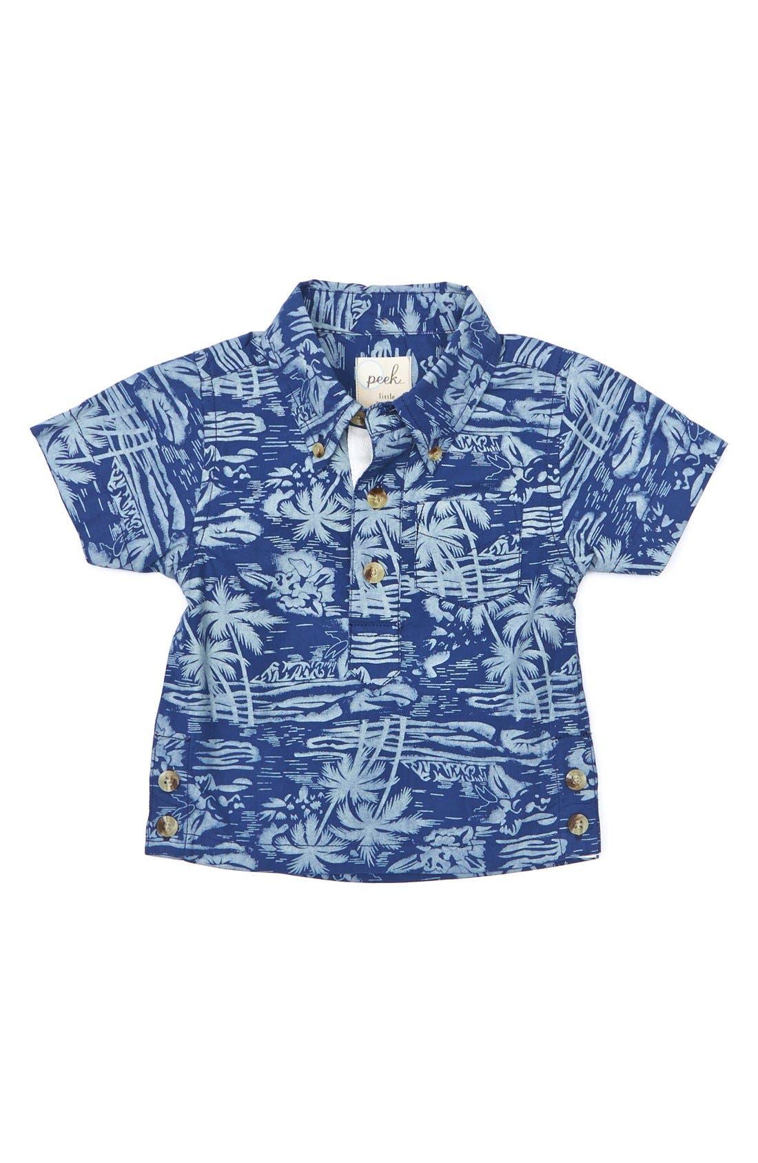 Alternate Image 1 Selected - Peek 'North Shore' Shirt (Baby Boys)