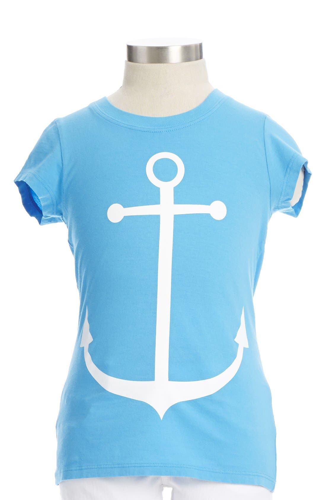 Main Image - Peek 'Anchor' Cotton Tee (Big Girls)