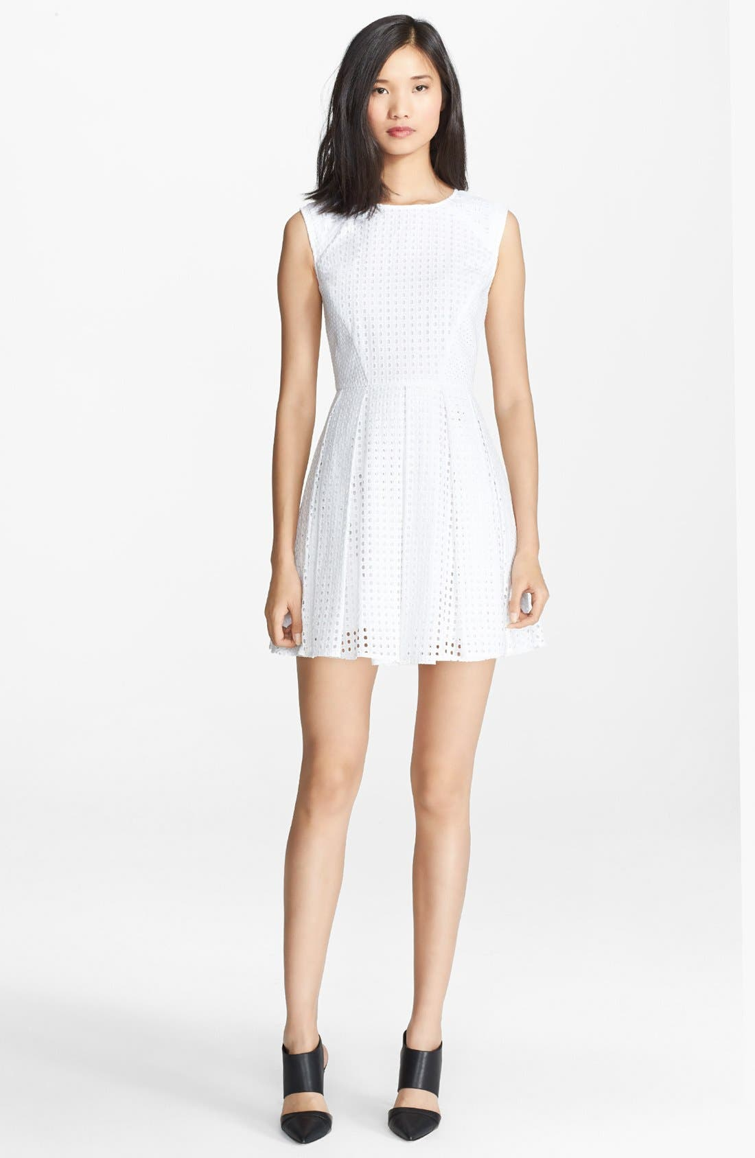 Alternate Image 1 Selected - Rachel Zoe 'Marcel' Cotton Eyelet Fit & Flare Dress