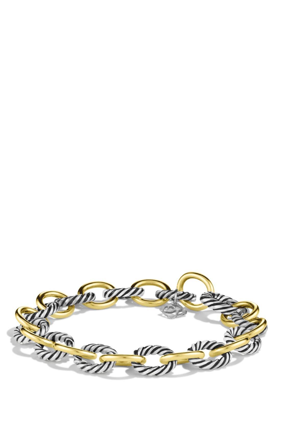 Alternate Image 1 Selected - David Yurman 'Oval' Link Bracelet with Gold