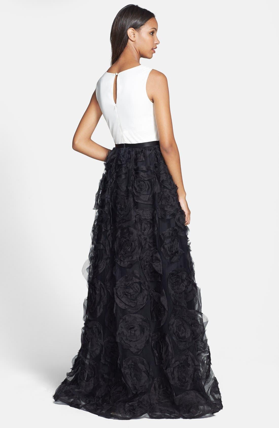 Alternate Image 2  - Aidan Mattox Sleeveless Ruffle Skirt Ballgown