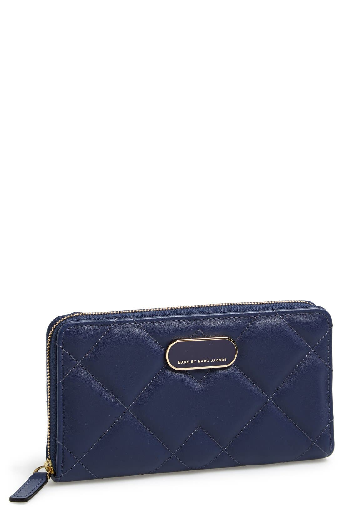 Alternate Image 1 Selected - MARC BY MARC JACOBS 'Quilty Vertical Zippy' Leather Wallet