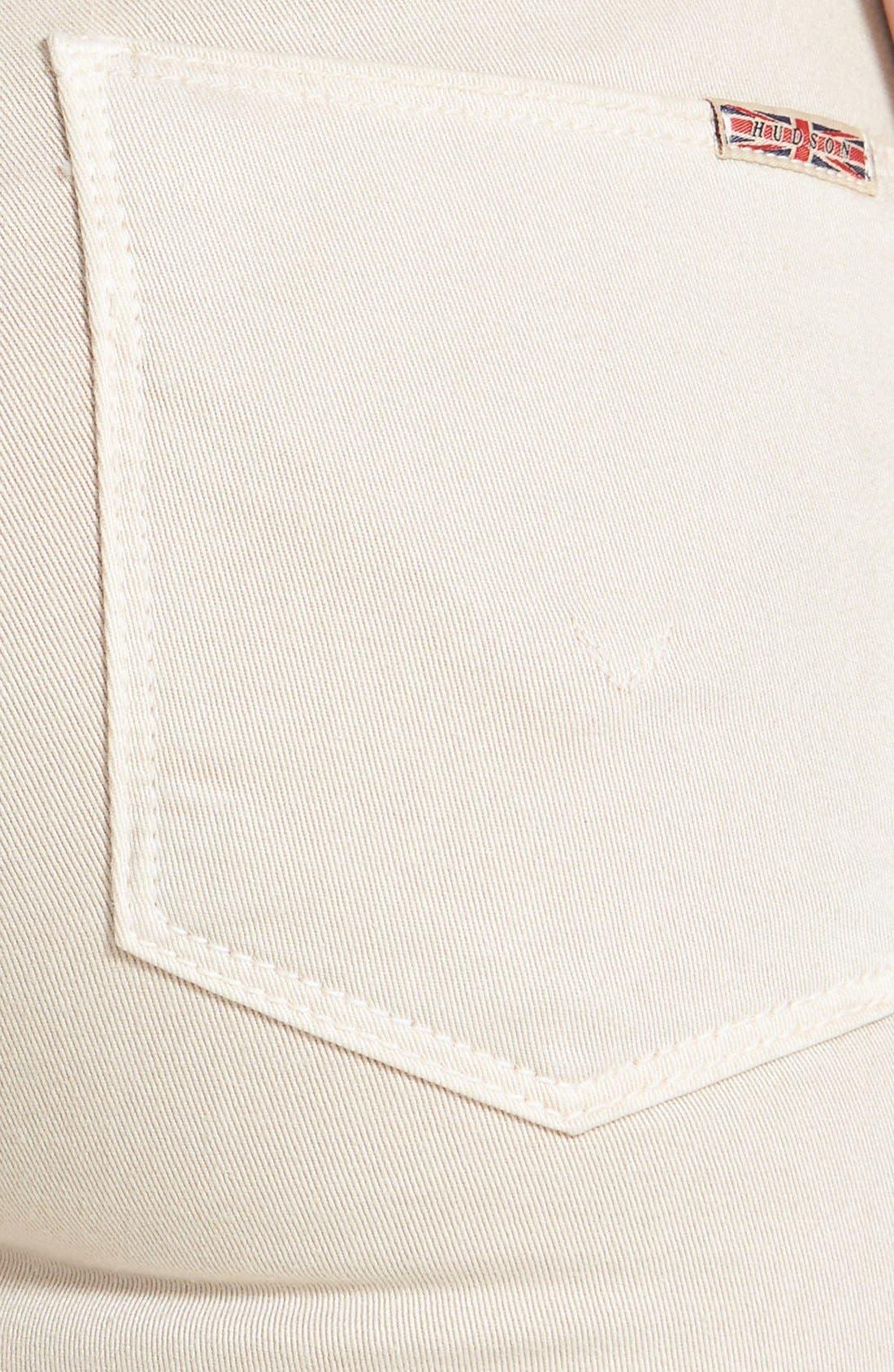 Alternate Image 3  - Hudson Jeans Mid Rise Skinny Jeans (Wood Ash)