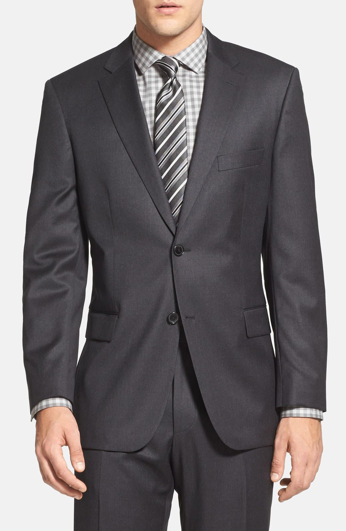 Alternate Image 3  - BOSS 'Pasolini/Movie' Classic Fit Charcoal Wool Suit