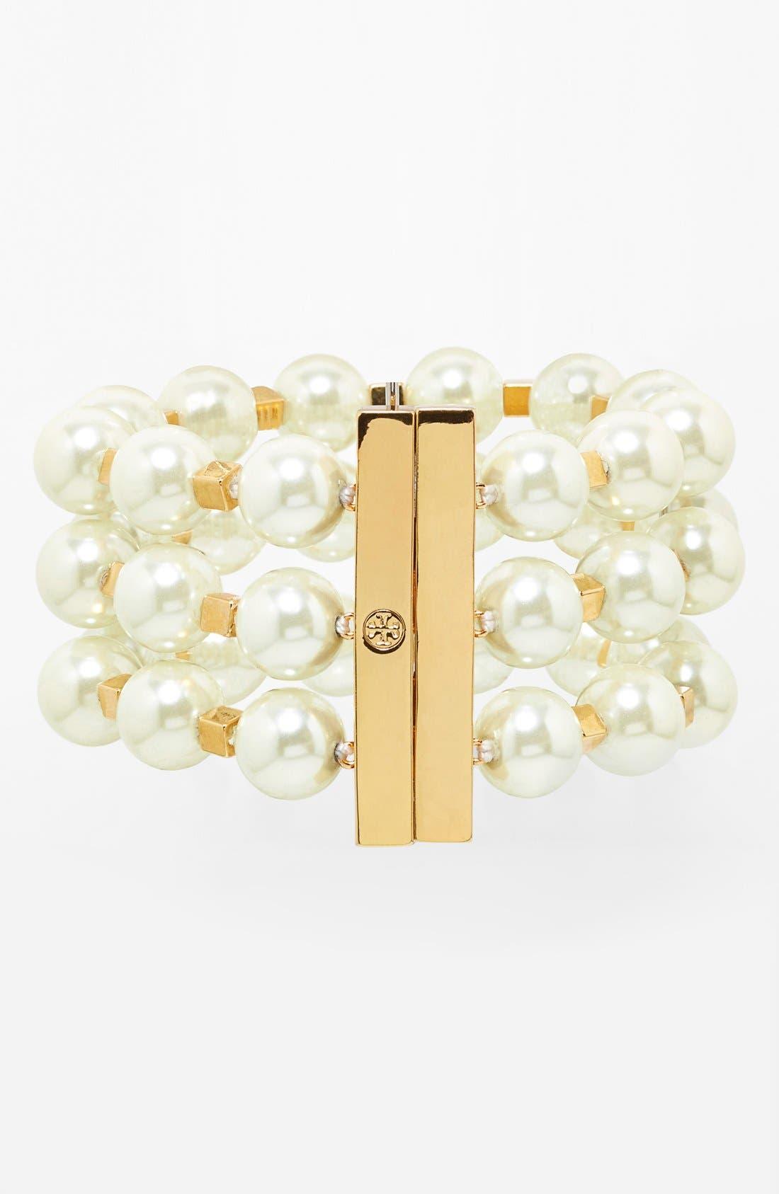 Main Image - Tory Burch 'Tilde' Wide Pearl Bracelet