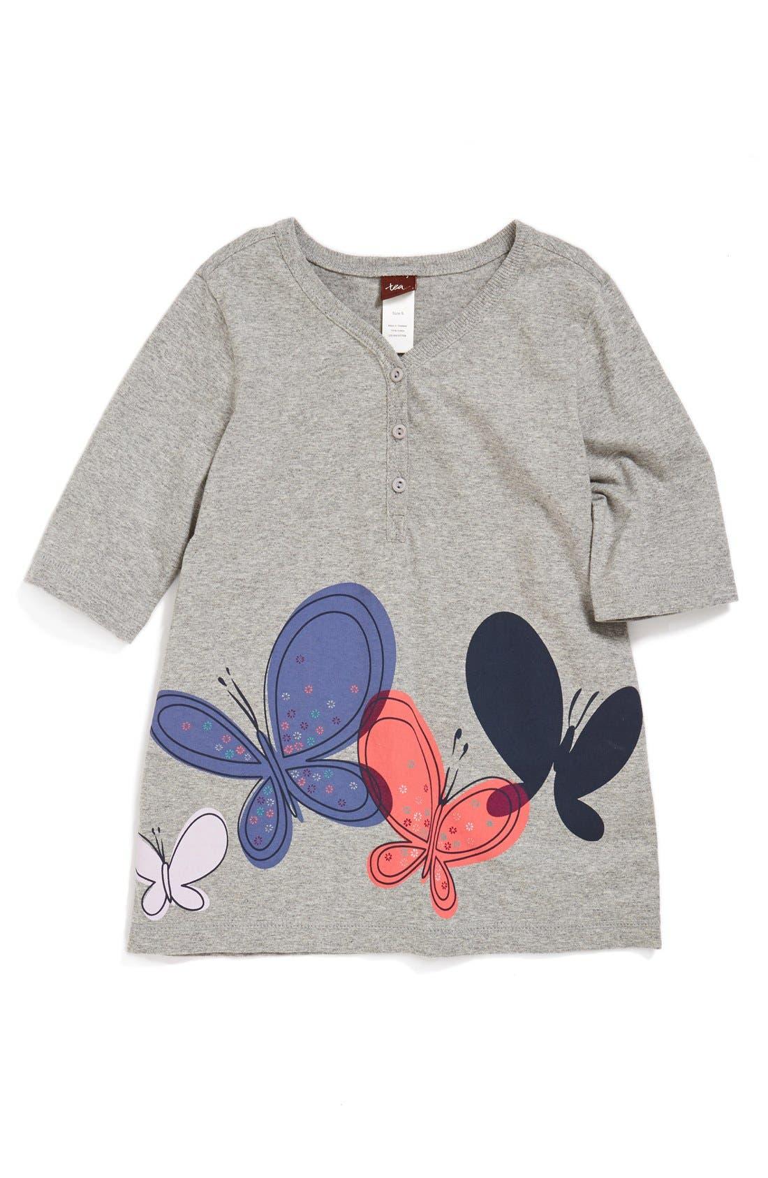 Main Image - Tea Collection 'Schmetterling' Henley Tee (Toddler Girls, Little Girls & Big Girls)
