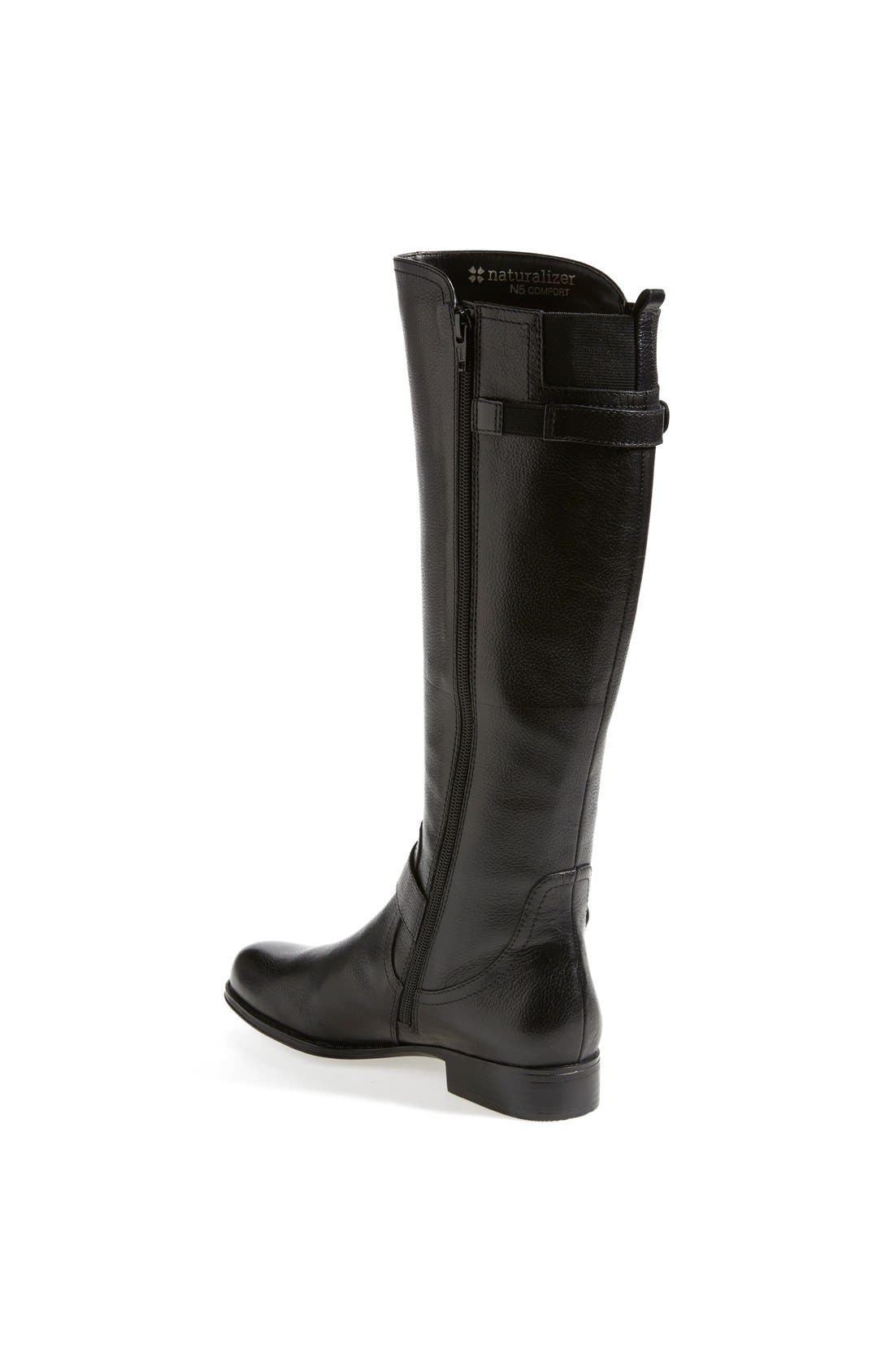 Alternate Image 2  - Naturalizer 'Jersey' Leather Riding Boot (Wide Calf) (Women)