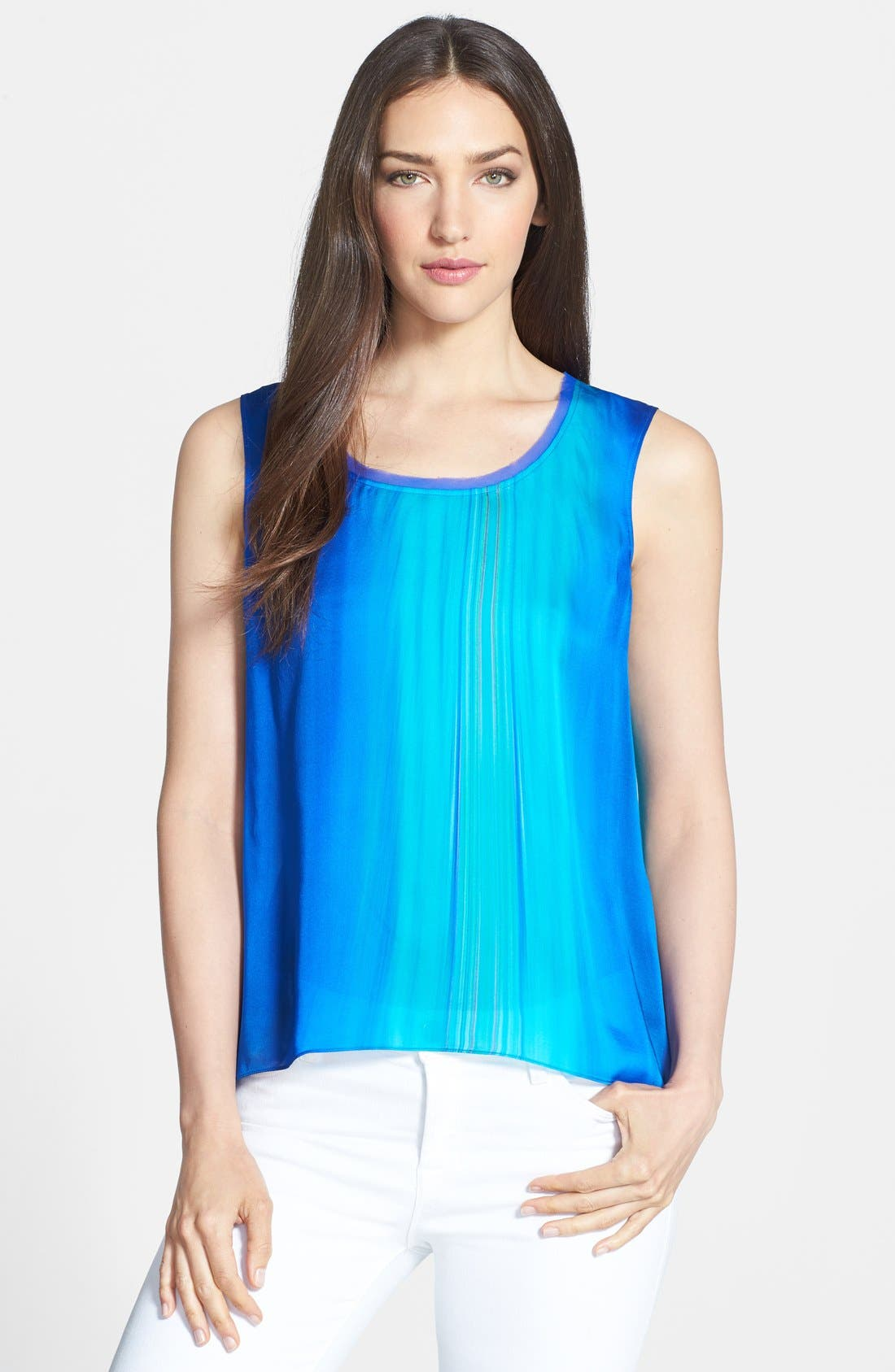 Alternate Image 1 Selected - Elie Tahari 'Chase' Sleeveless Silk Blouse