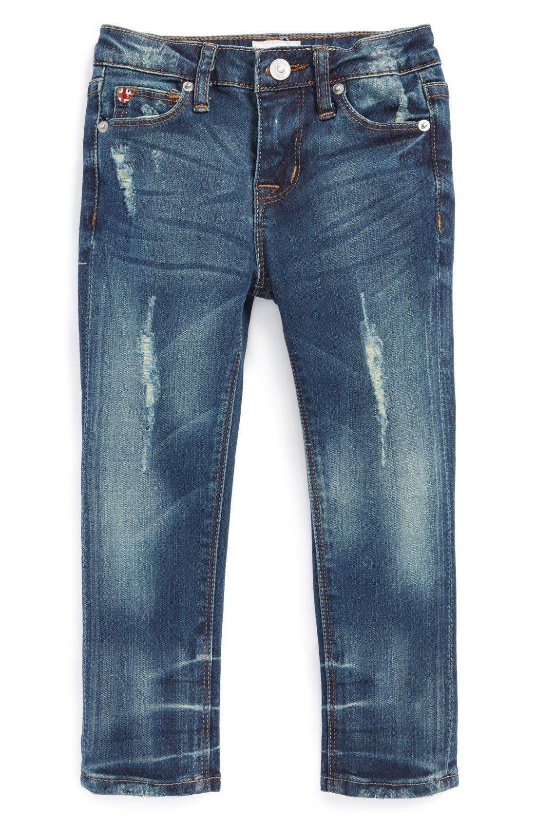 Alternate Image 2  - Hudson Kids 'Dolly' Distressed Skinny Jeans (Toddler Girls)