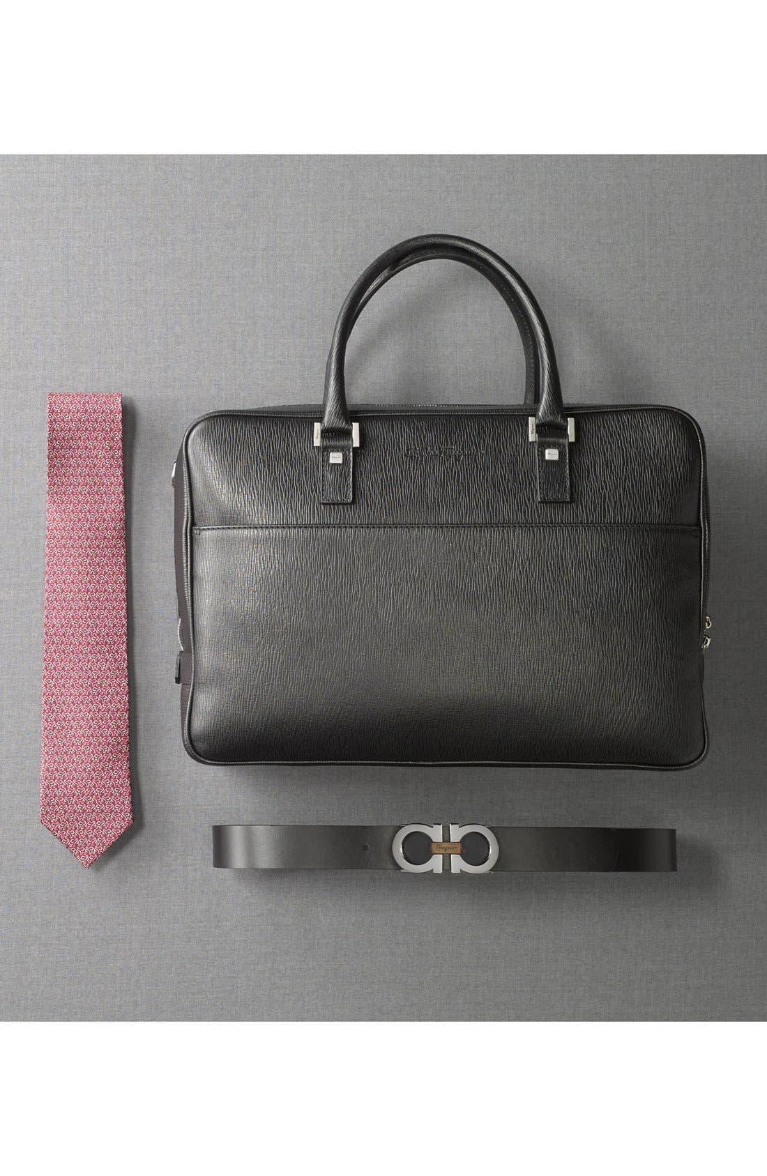 Reversible Leather Belt,                             Alternate thumbnail 4, color,                             Black/ Brown