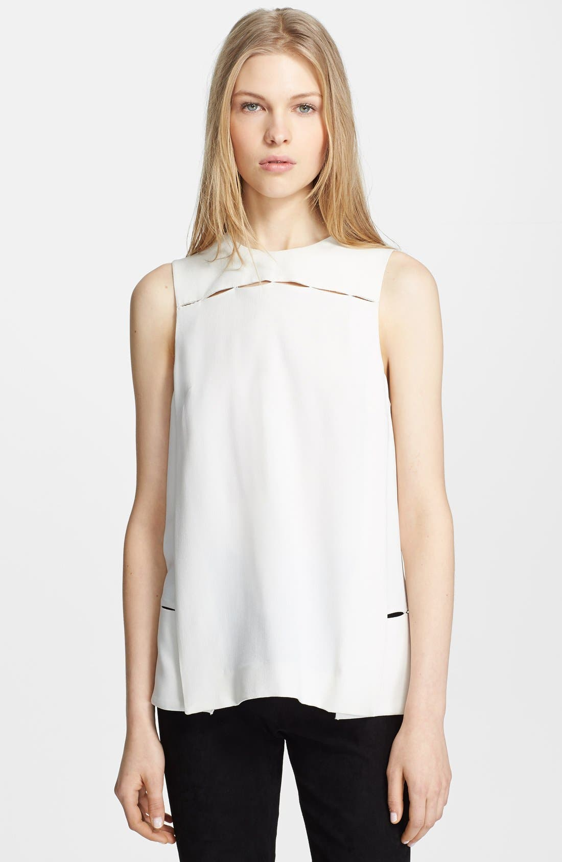 Alternate Image 1 Selected - Proenza Schouler Satin-Back Crepe Blouse