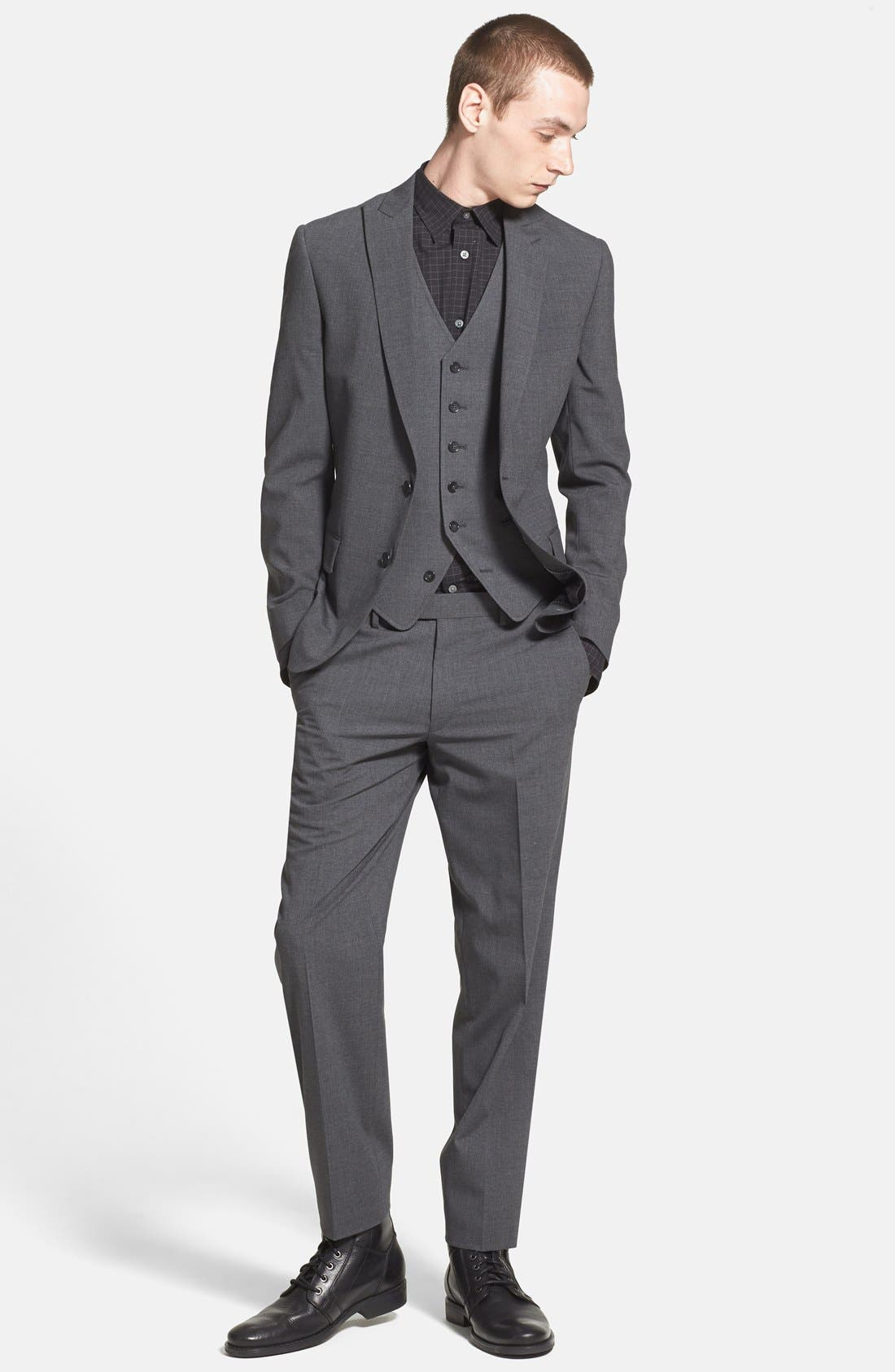 Alternate Image 4  - John Varvatos Star USA Peak Lapel Blazer