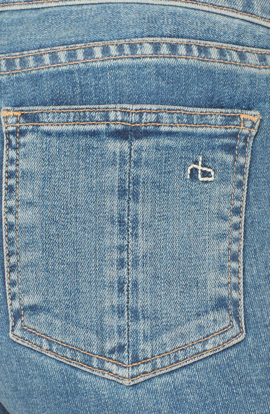 Alternate Image 3  - rag & bone/JEAN Stretch Skinny Jeans (Water Street)
