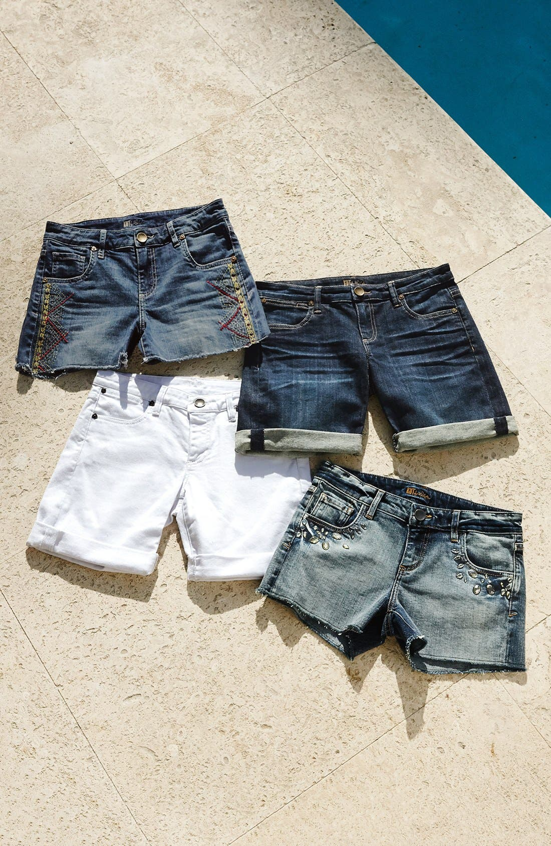 Alternate Image 5  - KUT from the Kloth Embroidered Cutoff Denim Shorts