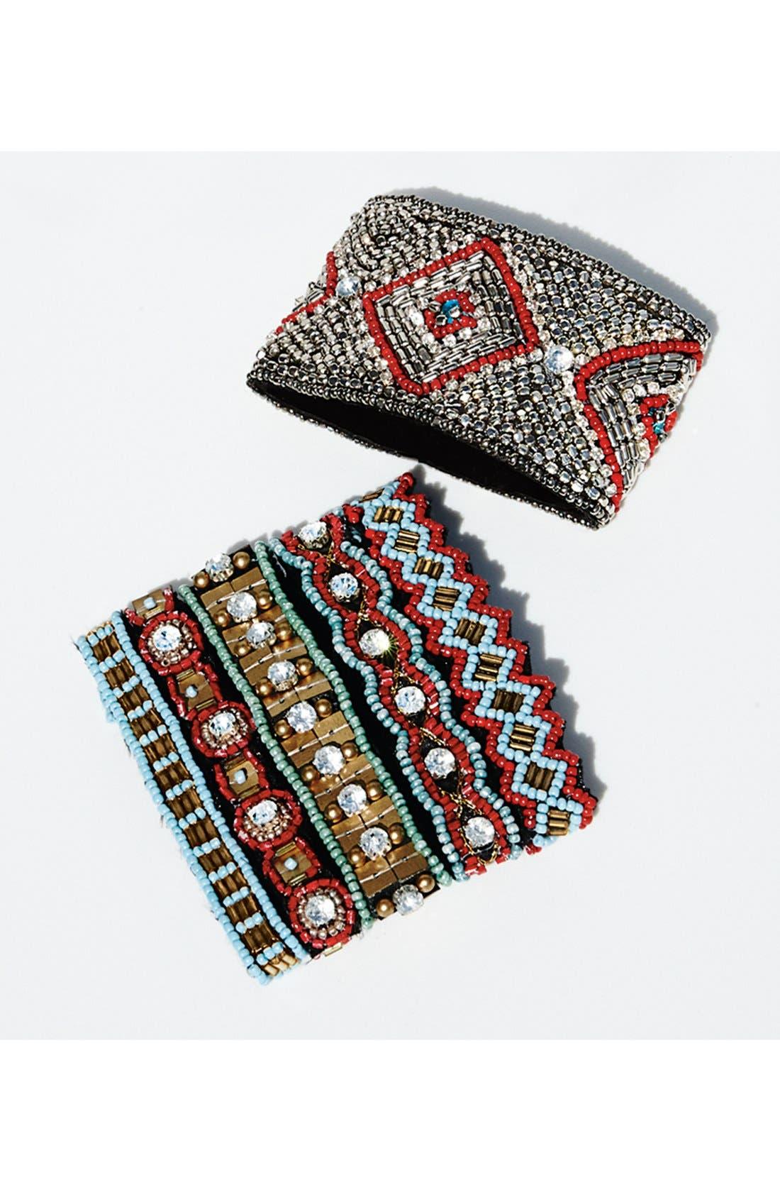 Alternate Image 2  - Cara Couture Embellished Cuff Bracelet