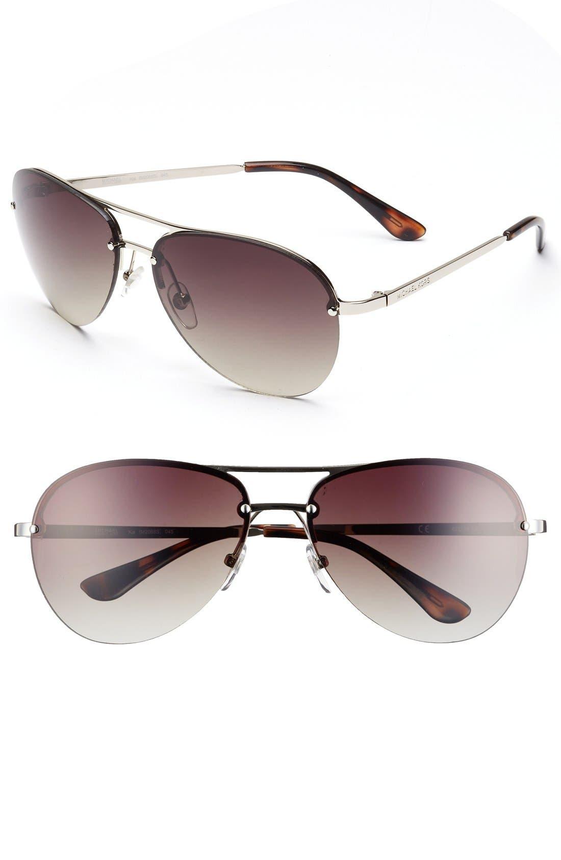 Alternate Image 1 Selected - MICHAEL Michael Kors 'Kai' 62mm Aviator Sunglasses