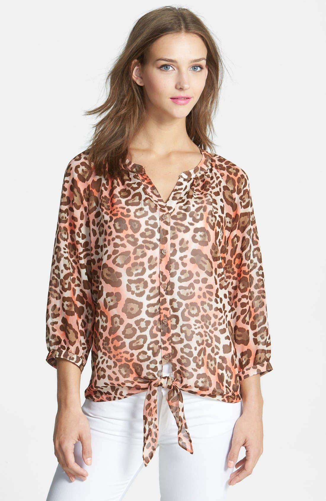 Alternate Image 1 Selected - KUT from the Kloth Tie Front Blouse