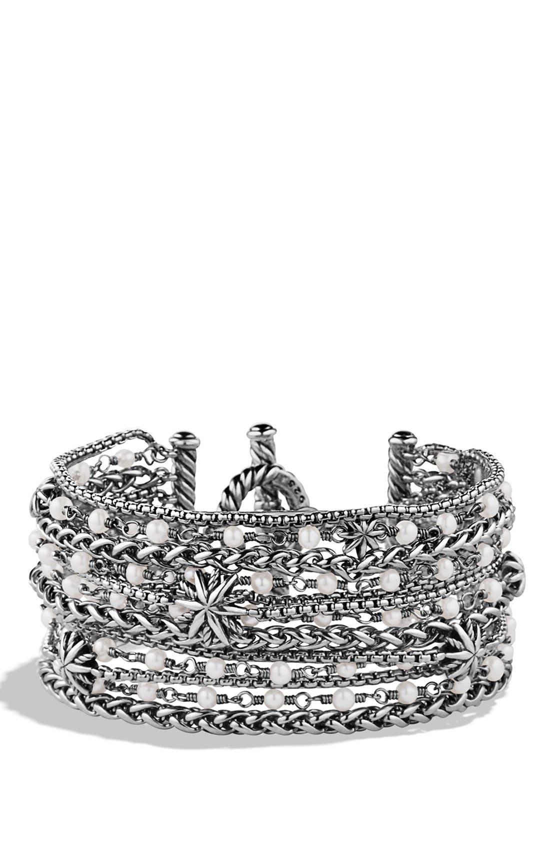 David Yurman 'Starburst' Chain Bracelet with Pearls