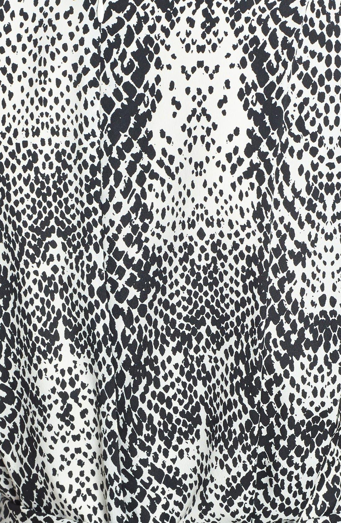 Alternate Image 4  - Eliza J Print Belted Crêpe de Chine Shift Dress (Regular & Petite)