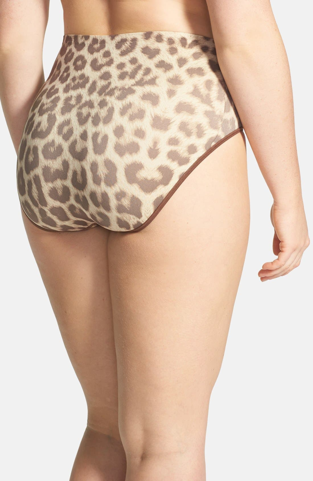Alternate Image 2  - Shimera Print Seamless Full Cut Briefs (Plus Size)