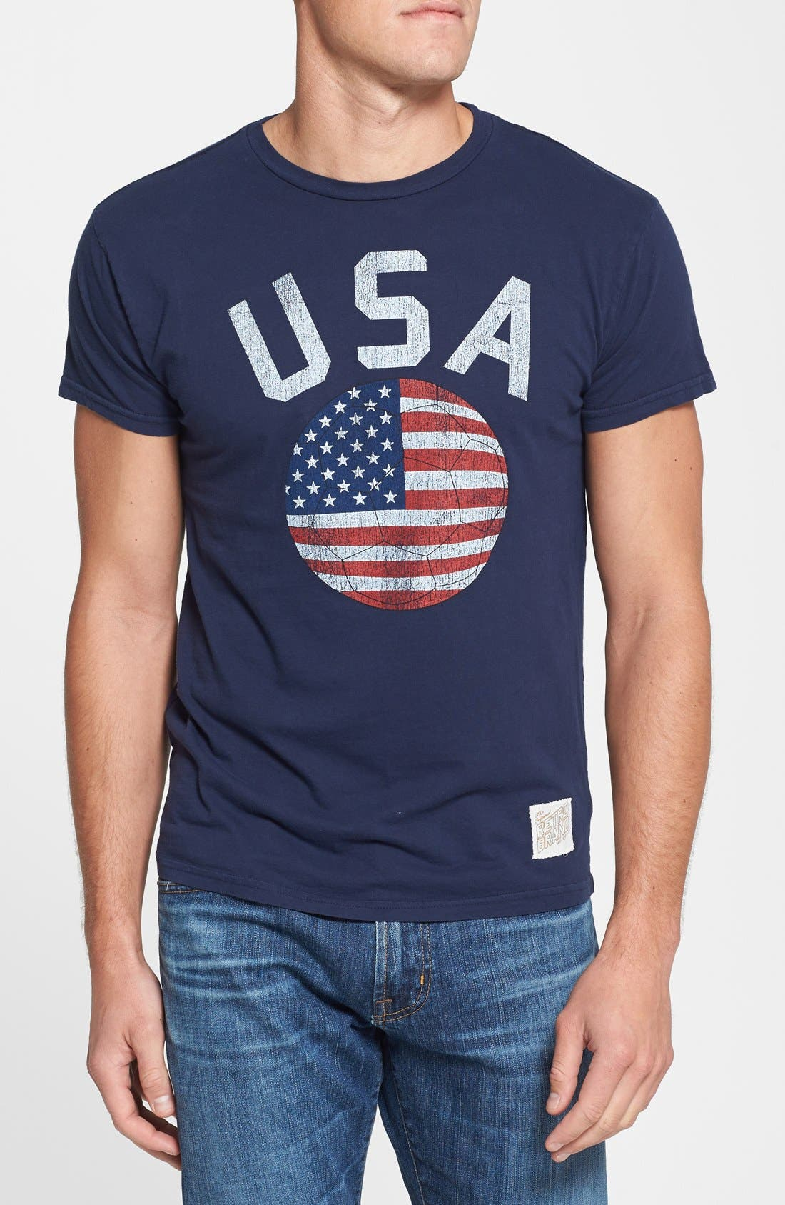 Alternate Image 1 Selected - Retro Brand 'USA Soccer' Slim Fit T-Shirt