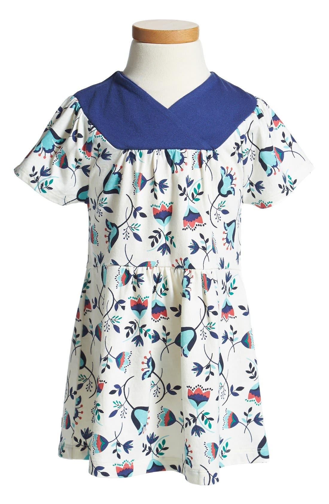 Alternate Image 1 Selected - Tea Collection 'Tulpenregen' Faux-Wrap Dress (Baby Girls)