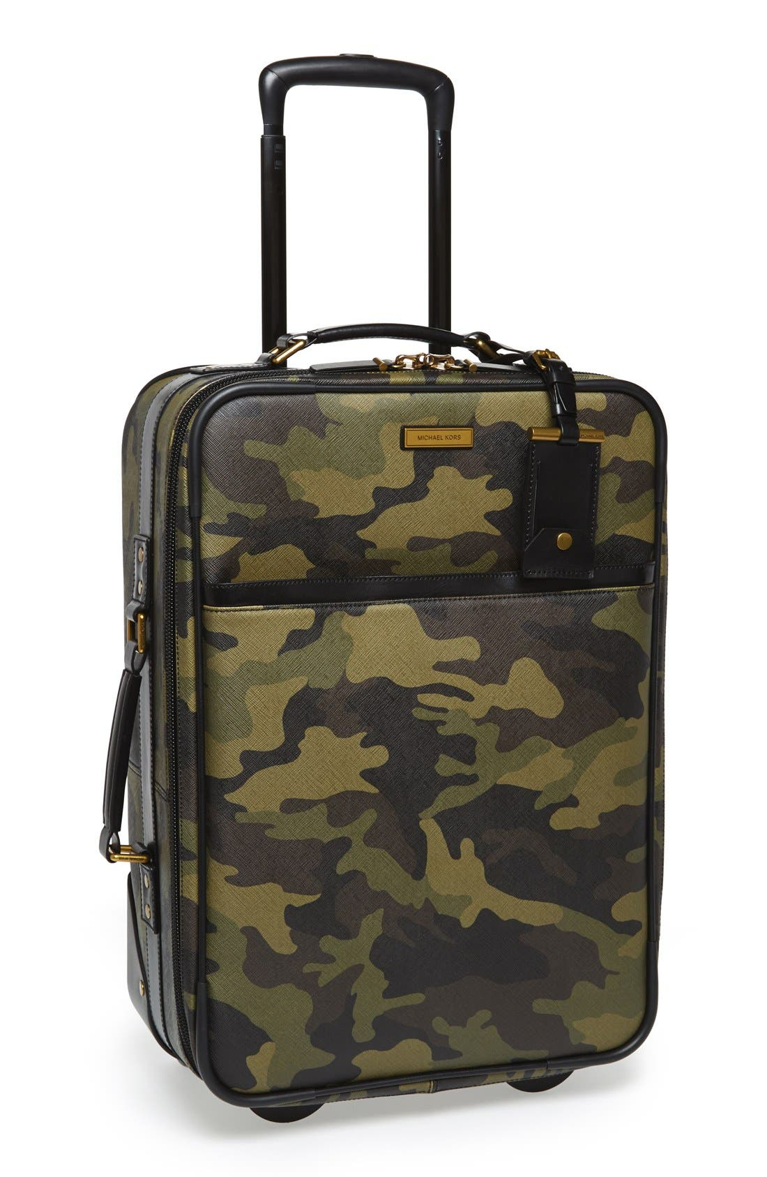 'Jet Set - Camo' Rolling Carry-On,                             Main thumbnail 1, color,                             Camo