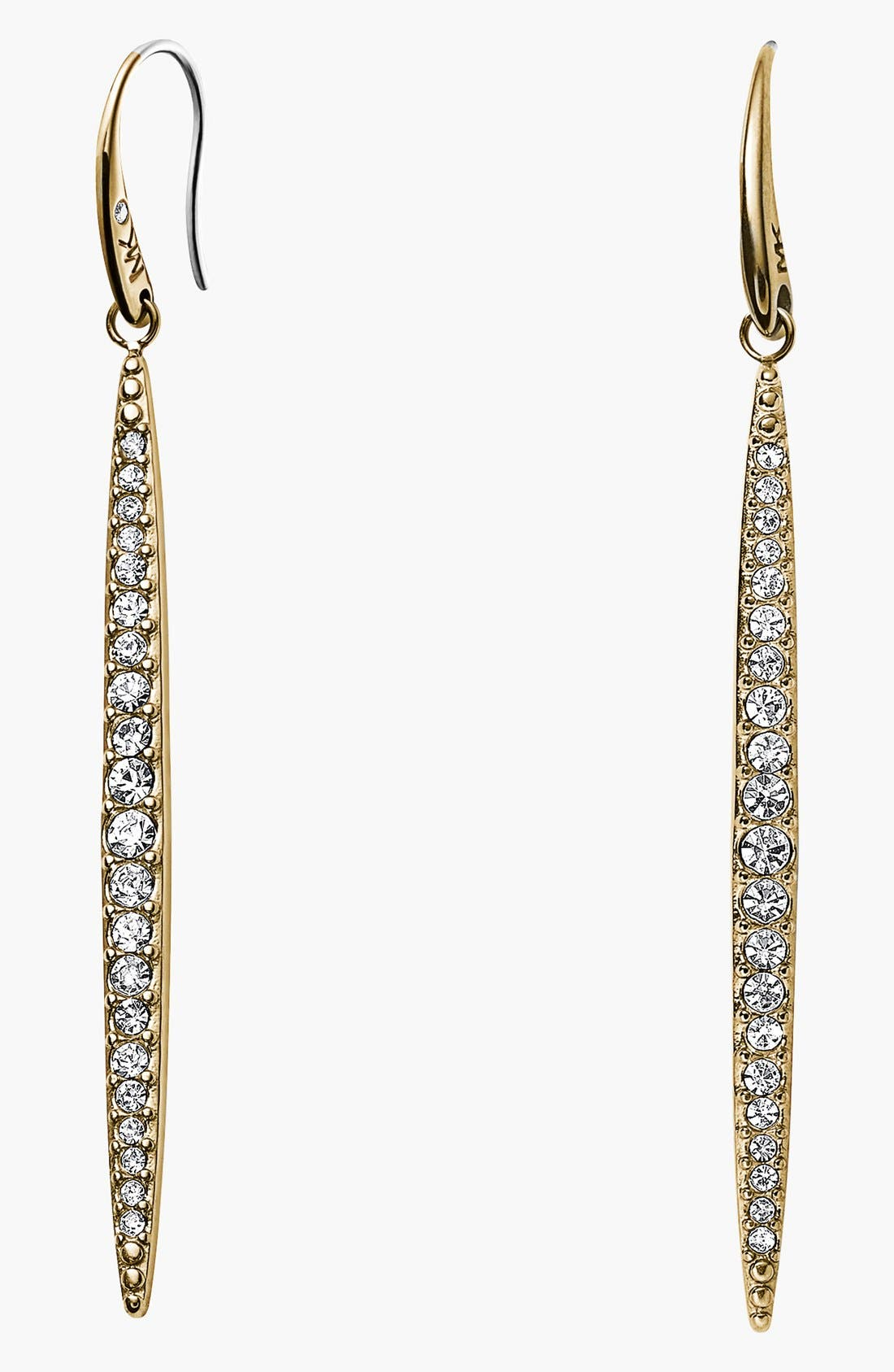 Alternate Image 1 Selected - Michael Kors 'Matchstick' Pavé Linear Earrings